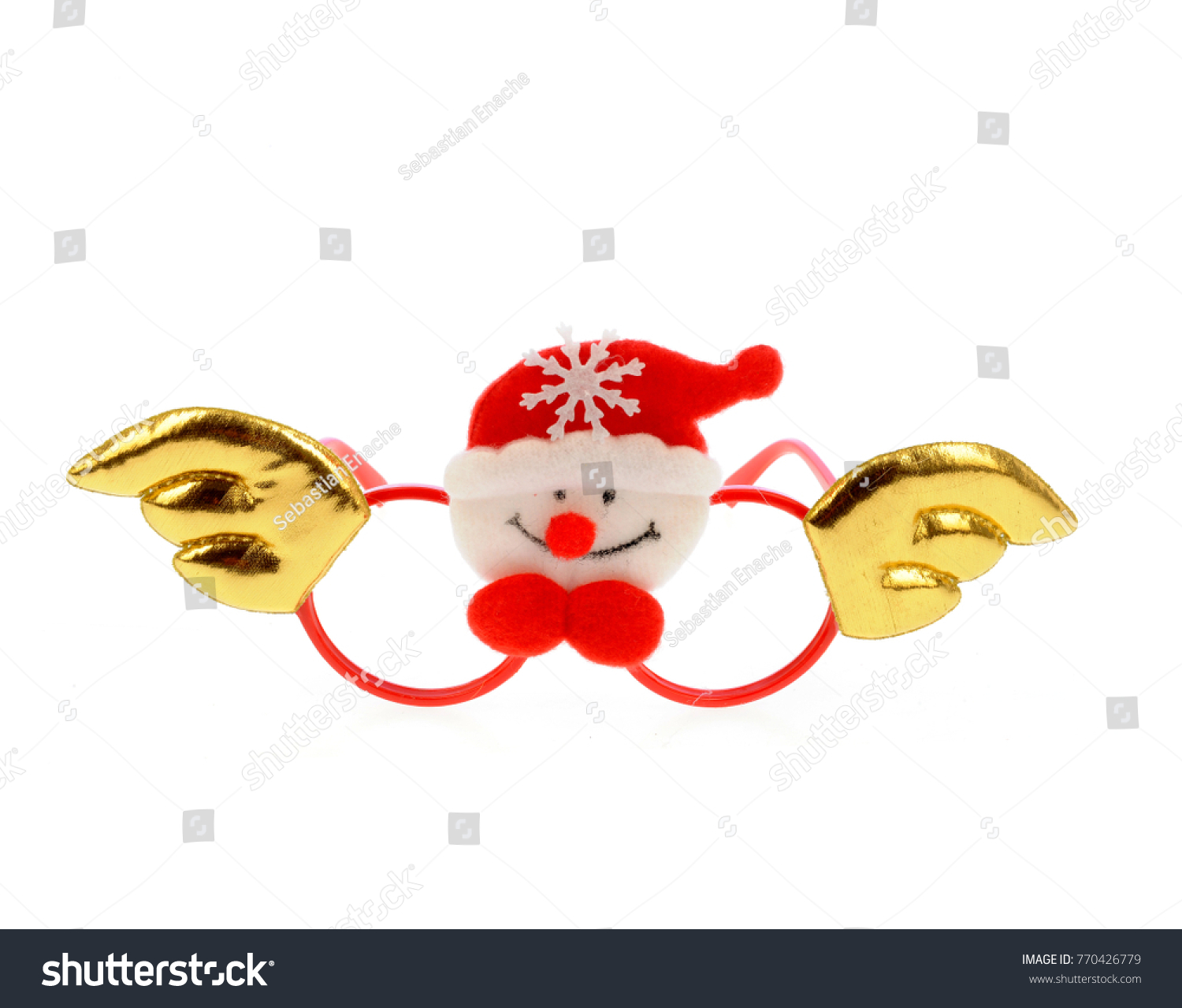 Funny Frames Glasses Christmas Decor Isolated Stock Photo (Royalty ...