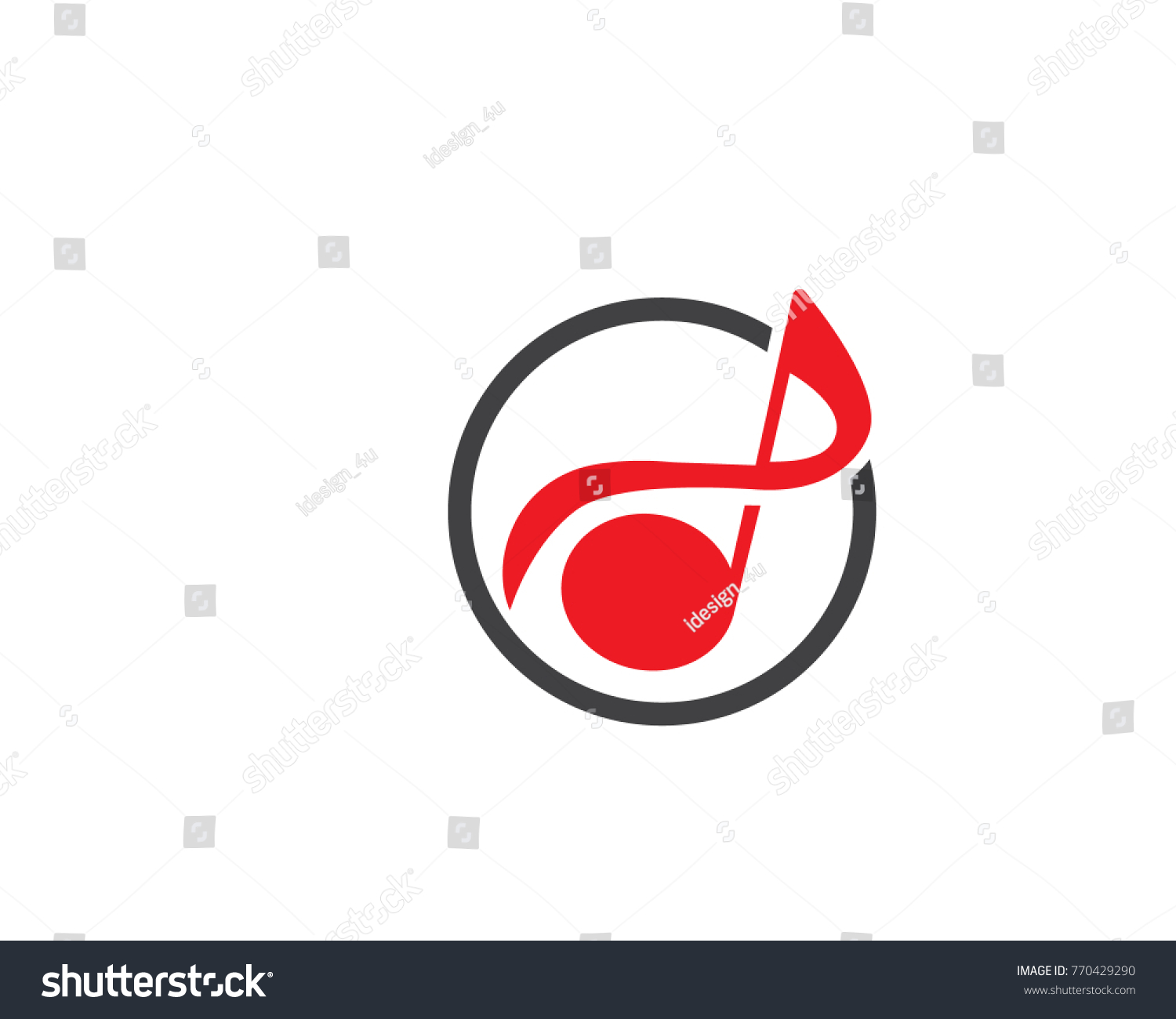 Abstract music note symbol inside circle stock vector 770429290 a abstract music note symbol inside a circle biocorpaavc Gallery