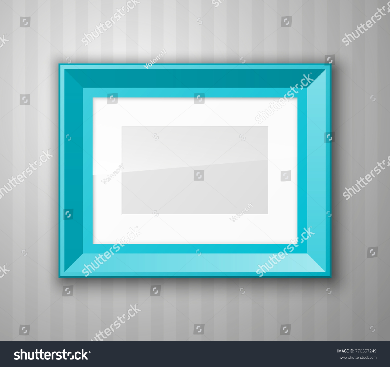 Set Color Blank Picture Frames Different Stock Photo (Photo, Vector ...