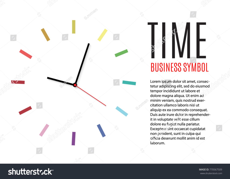 Wall Clock Office Template Design Vector Stock Vector (Royalty Free ...