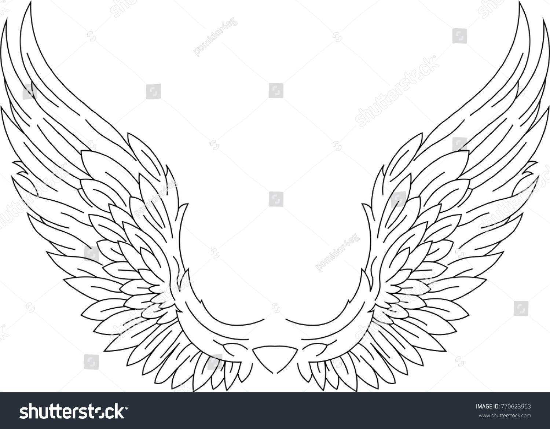 angel wings vector illustration stock vector hd royalty free rh shutterstock com angel wings vector free angel wings vector download