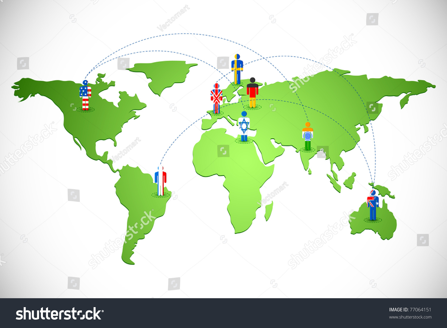 Illustration human icon different countries connected stock vector illustration human icon different countries connected stock vector 77064151 shutterstock gumiabroncs Gallery