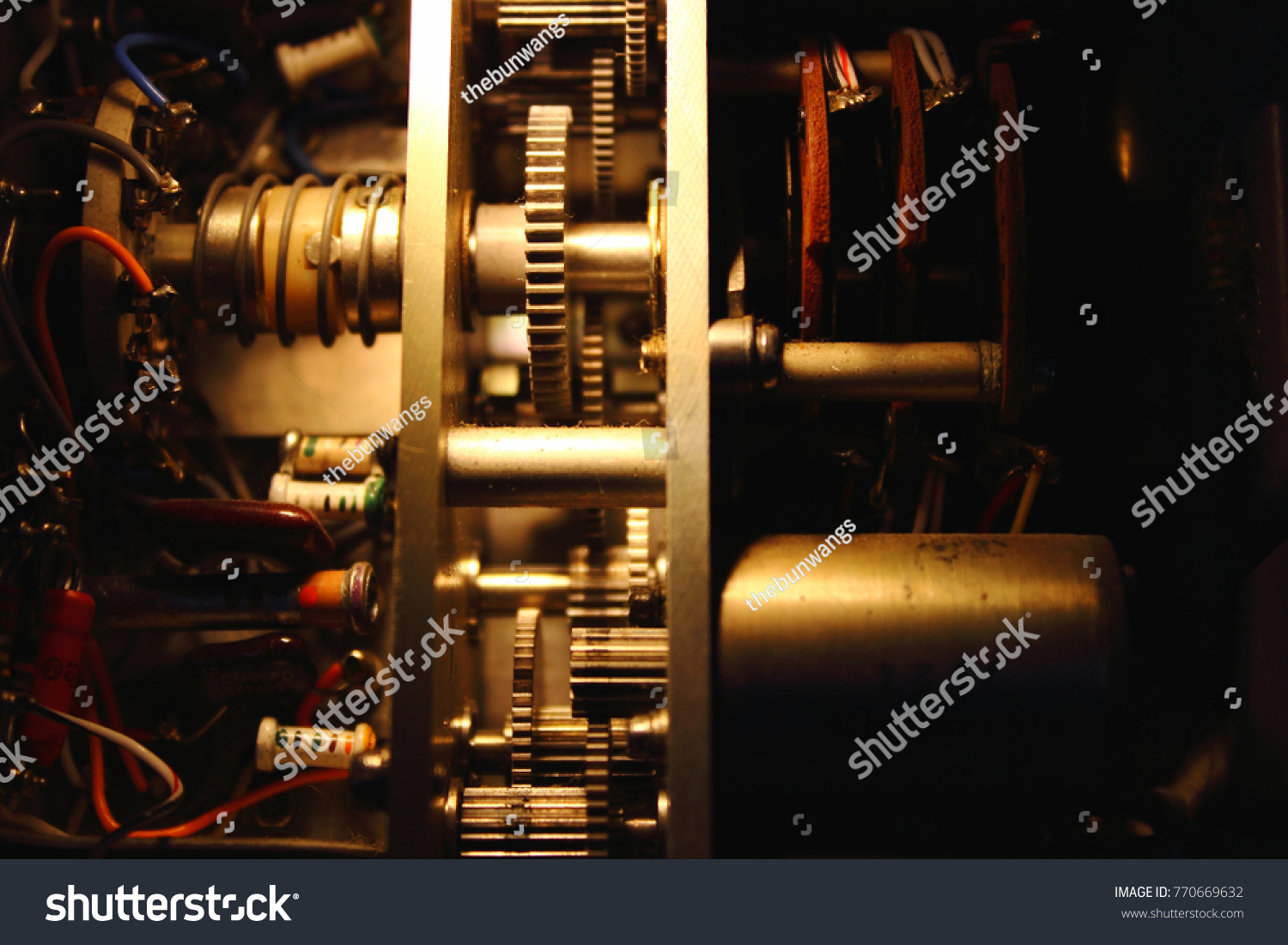 Servo Motor And Gear In Electronics Circuit Of Adf Receiver Id 770669632