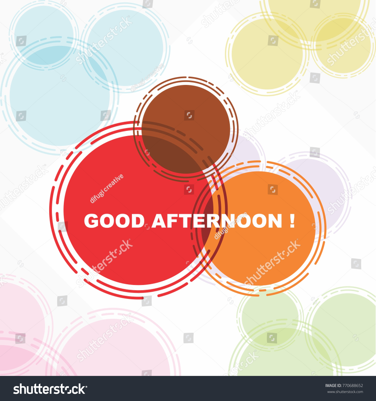 Good Afternoon Beautiful Greeting Card Poster Stock Vector Royalty