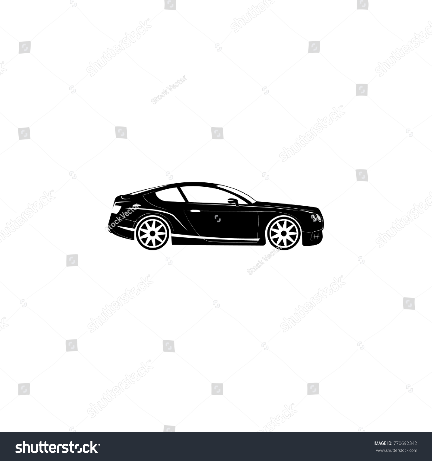 Luxury Sport Car Icon Transport Elements Stock Vector HD (Royalty ...
