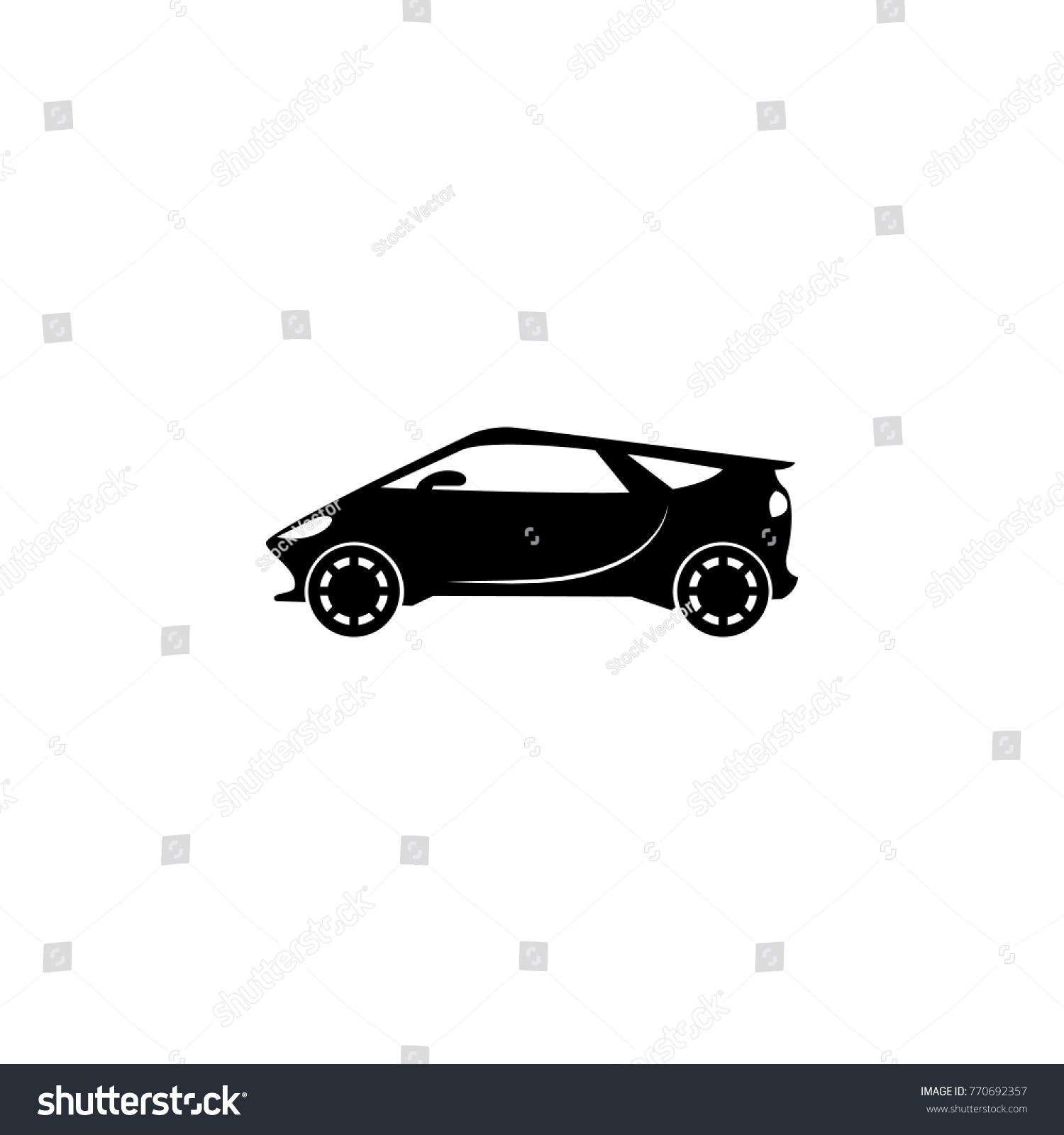 Electro Sport Car Icon Transport Elements Stock Photo (Photo, Vector ...