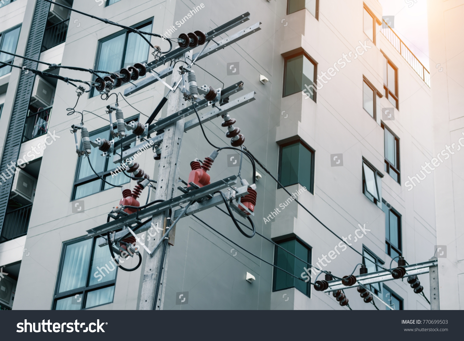 Electrical System Condominium Connecting Electrical System Building ...