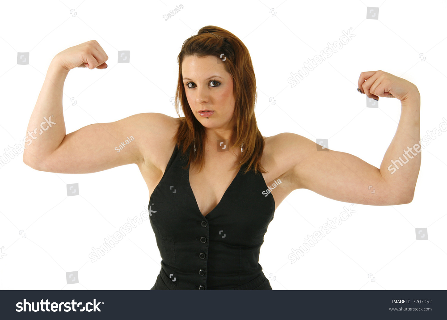 Showing muscles girls Young