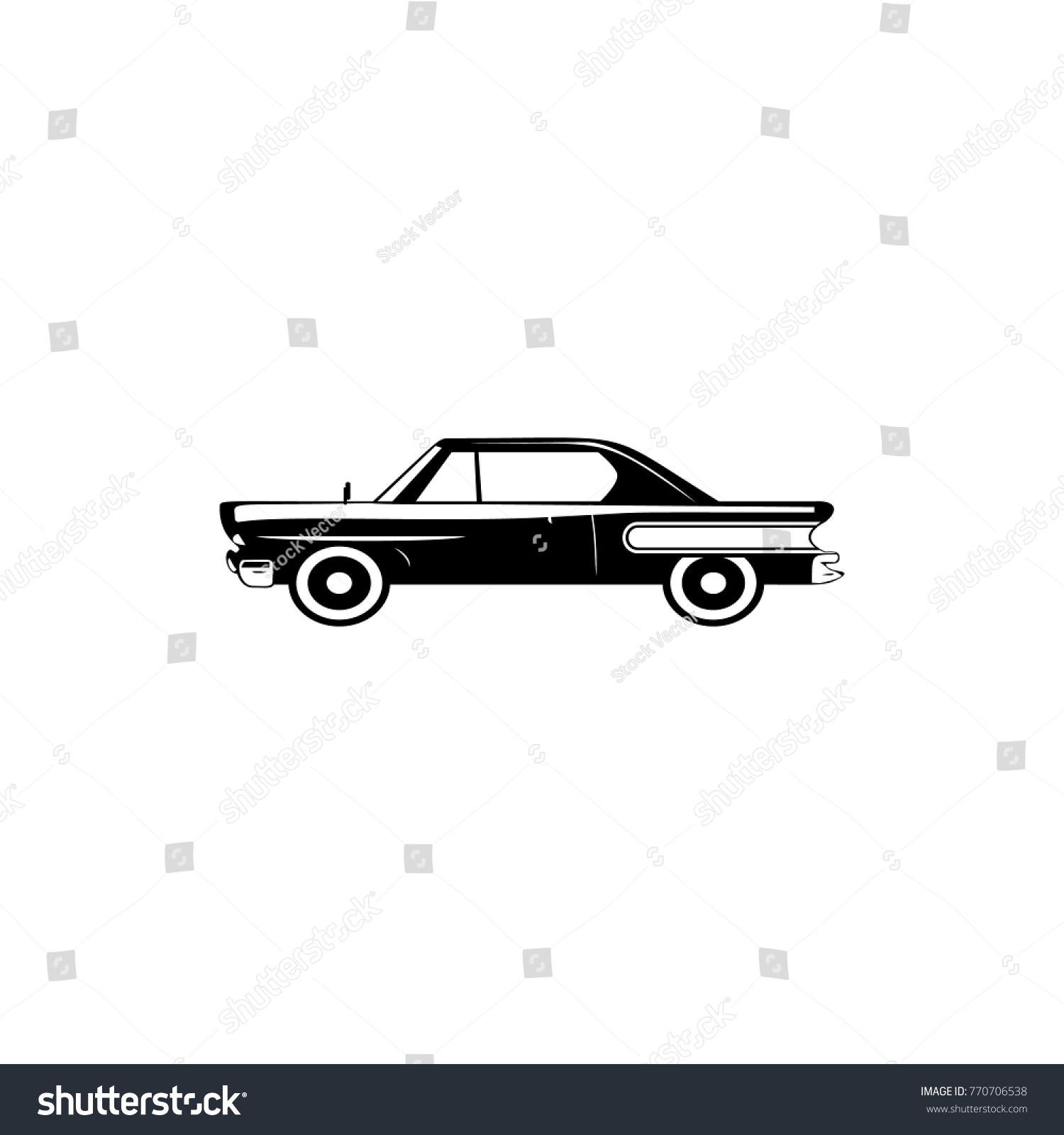 Vintage Red Retro Car Transport Elements Stock Photo (Photo, Vector ...