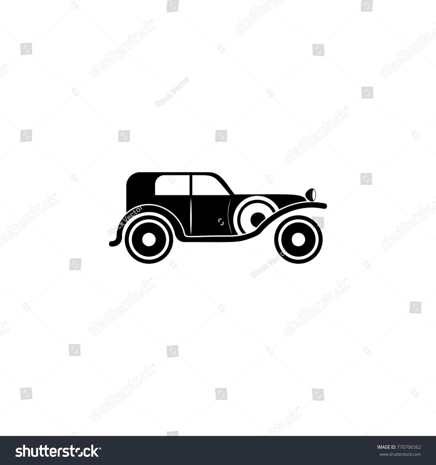 Vintage Car Icon Transport Elements Premium Stock Vector 770706562 ...