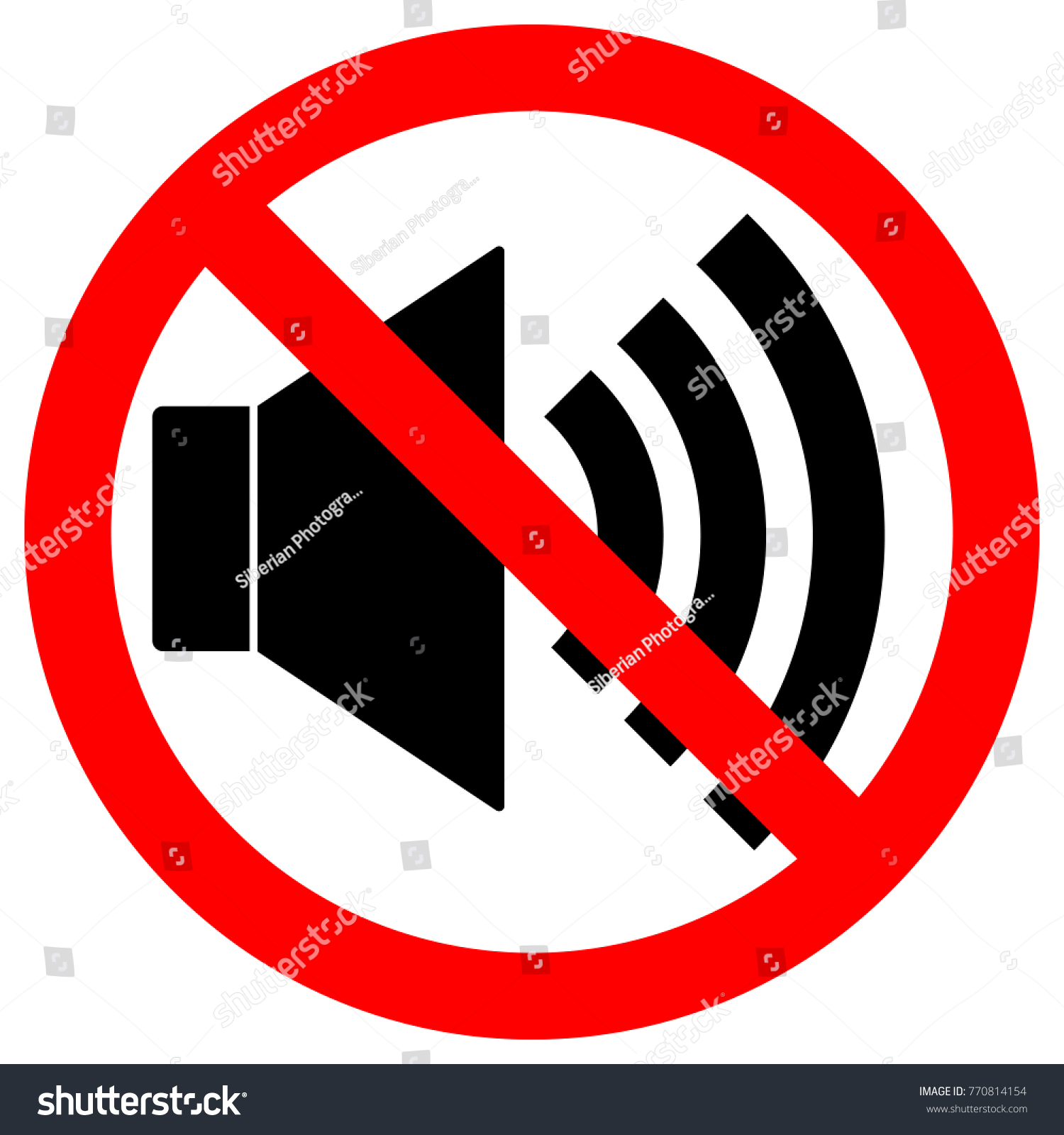 No sound sign loudspeaker icon crossed stock vector 770814154 no sound sign loudspeaker icon in crossed out red circle keep silence symbol buycottarizona Choice Image