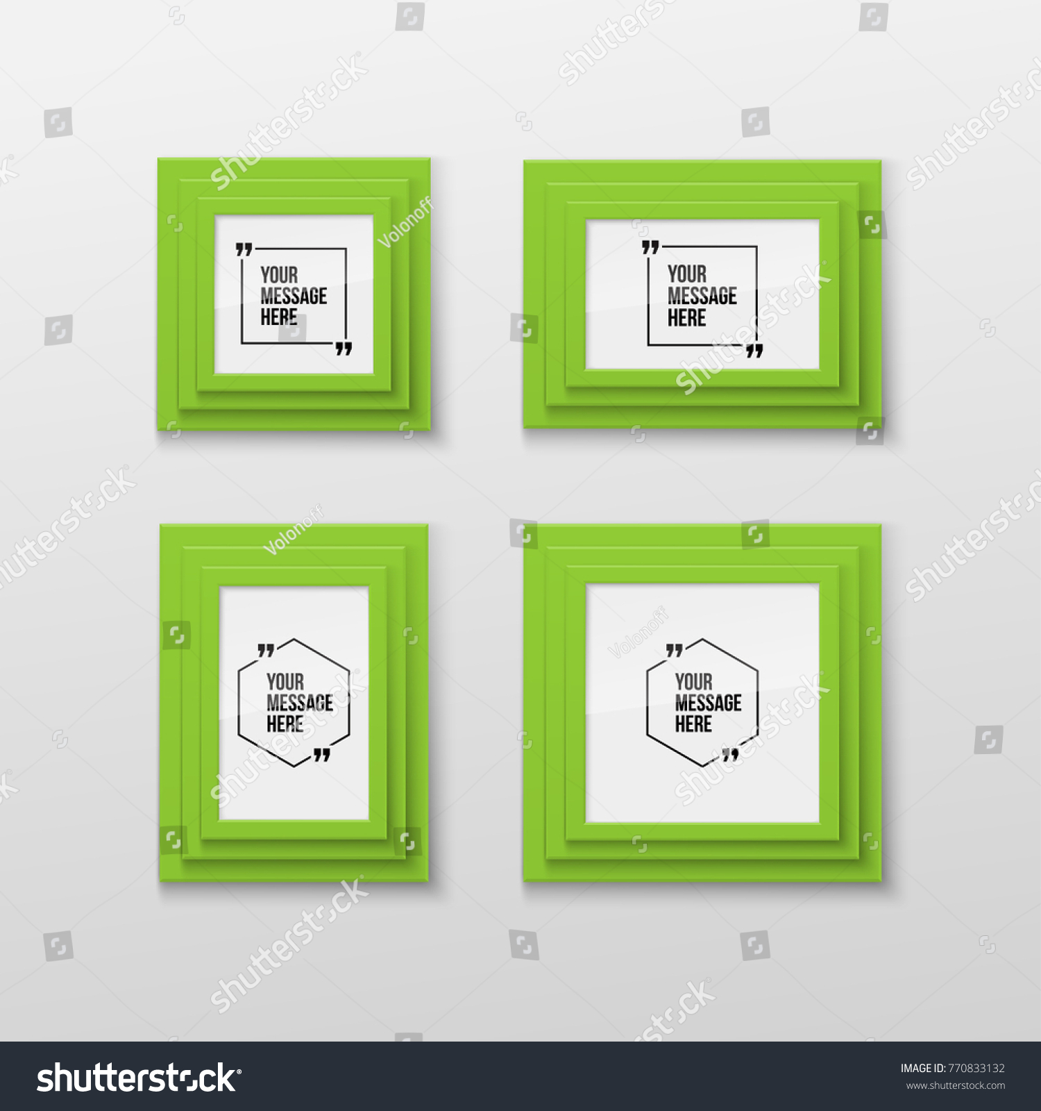 Realistic rectangular picture frame a3 a4 stock vector 770833132 realistic rectangular picture frame a3 a4 sizes with innovative vector quotation template in quotes jeuxipadfo Gallery