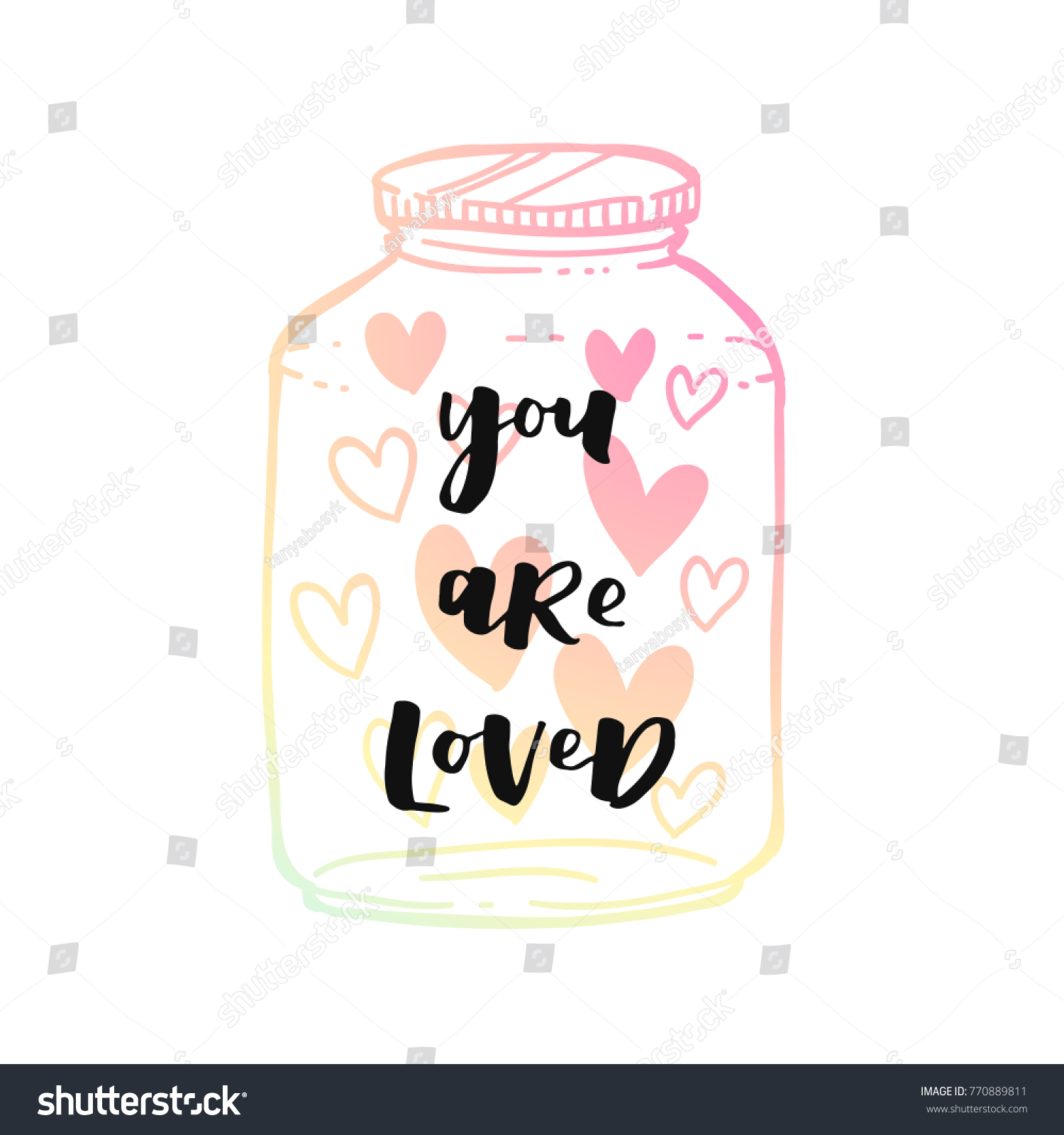 Romantic greeting card valentines day modern stock vector 770889811 romantic greeting card for valentines day modern holographic style poster with lettering you are loved kristyandbryce Gallery