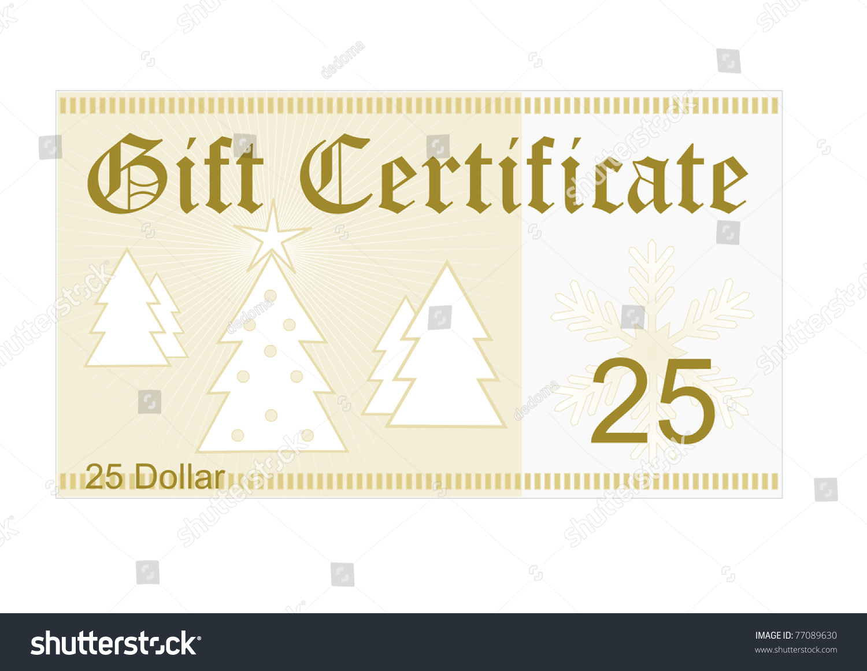 Gift Certificate 25 Dollar Christmas Gift Christmas