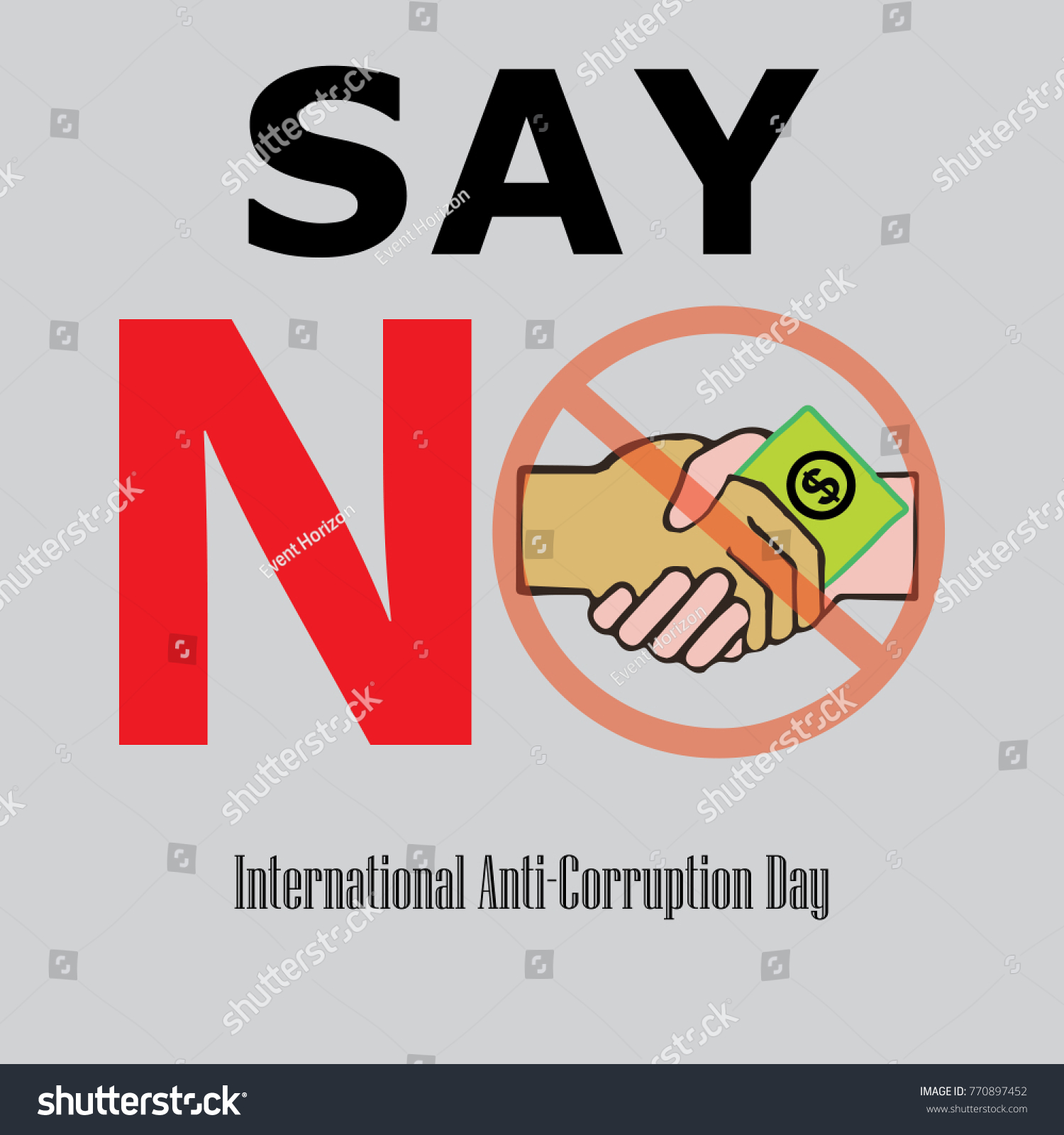 International Anticorruption Day Poster Banner Background Stock