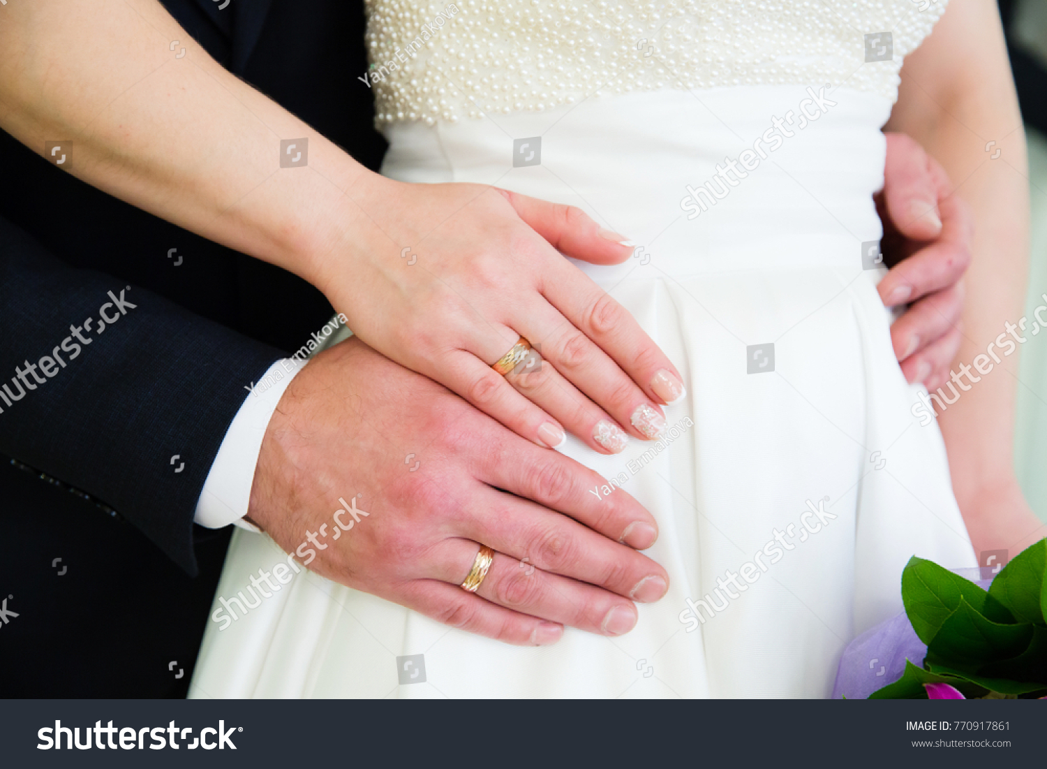 Wedding Couple Hands Wedding Rings Stock Photo (Edit Now) 770917861 ...