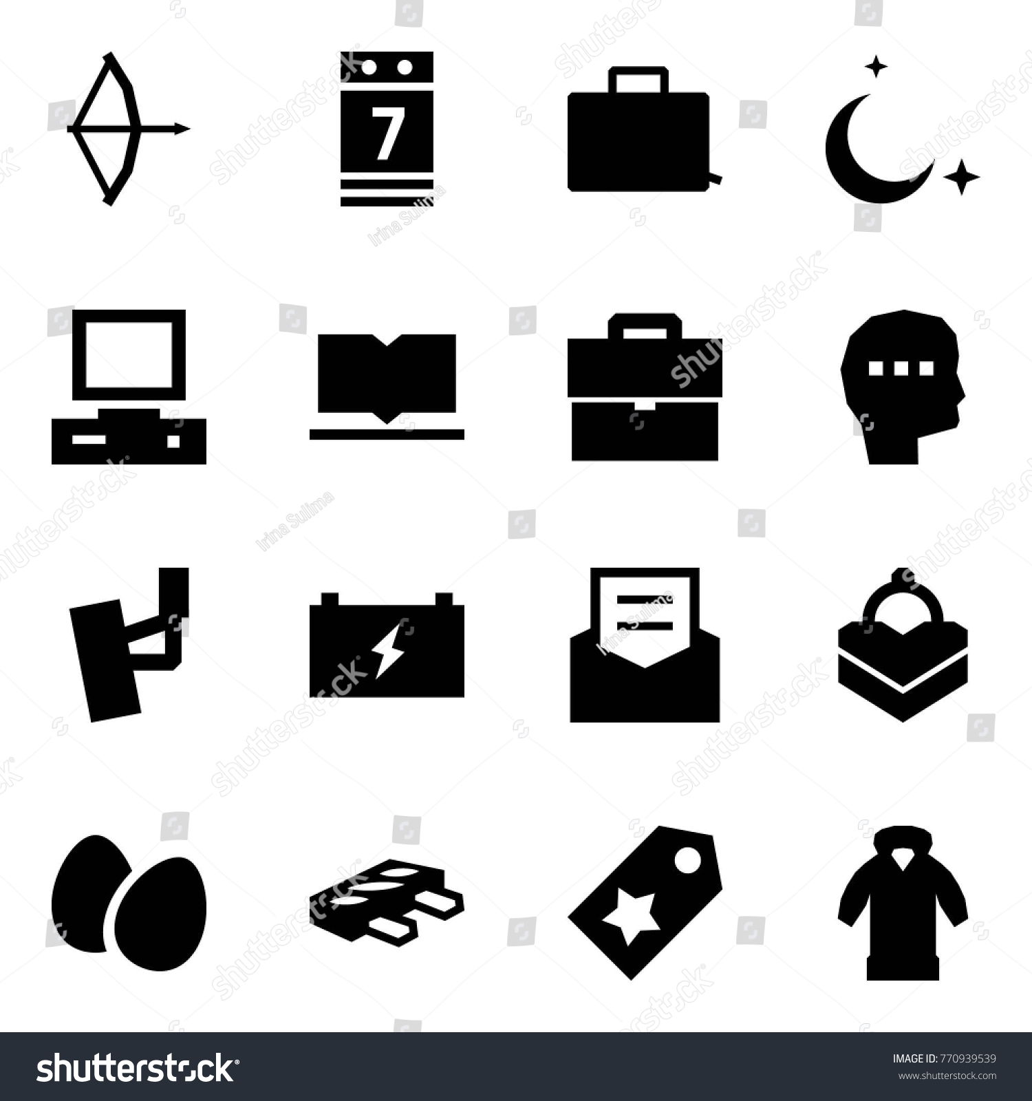 Origami Style Icon Set Bow Vector Stock Vector (Royalty Free