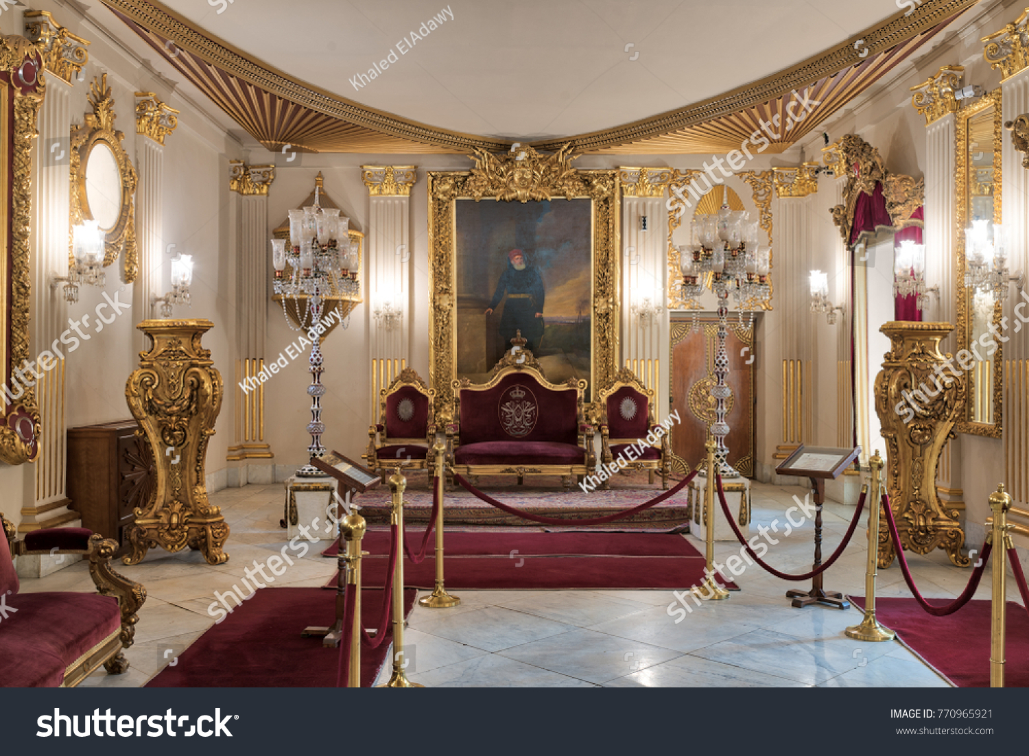 Cairo Egypt - December 2 2017 Throne Hall at Manial Palace of Prince & Cairo Egypt December 2 2017 Throne Stock Photo 770965921 ...