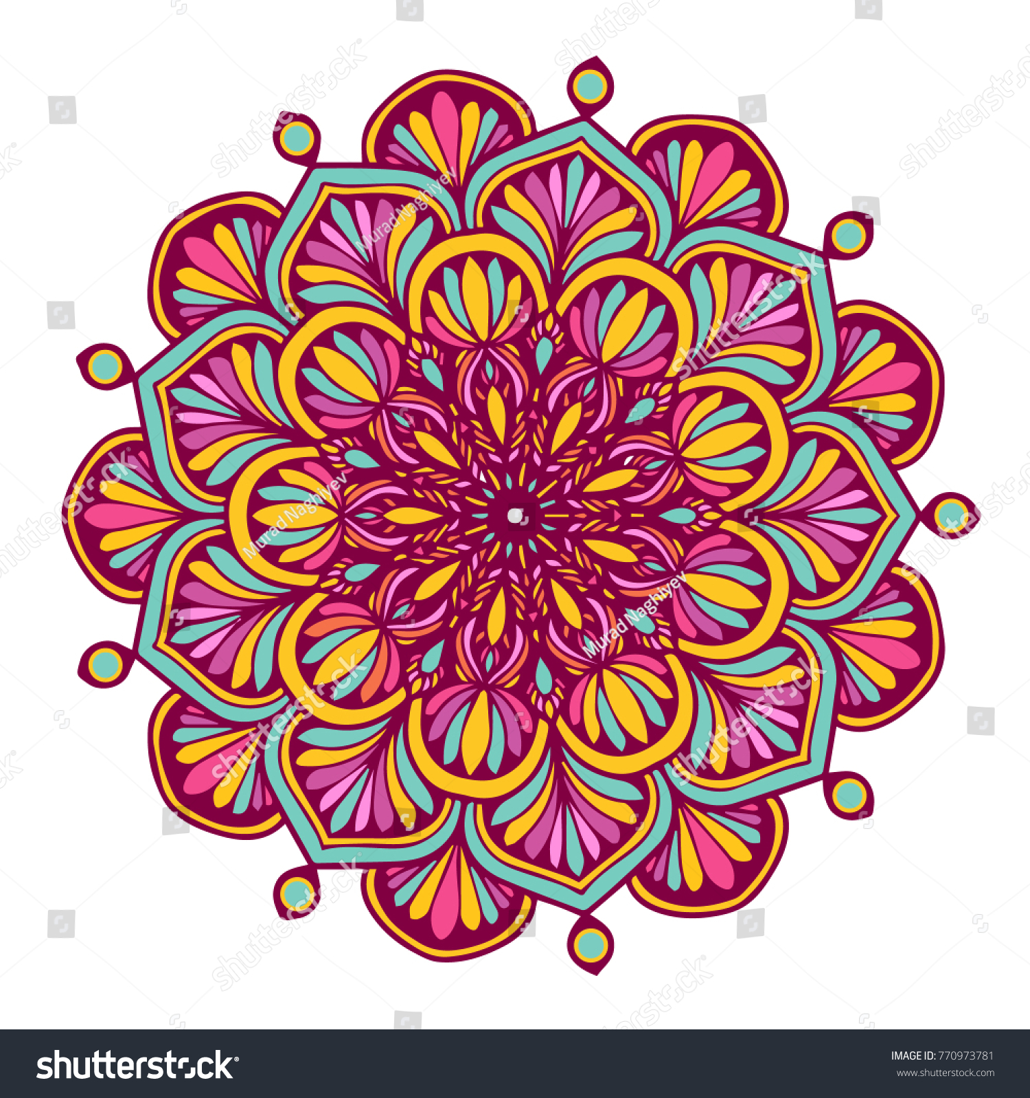 Colorful Mandalas Coloring Book Decorative Round Stock Vector ...
