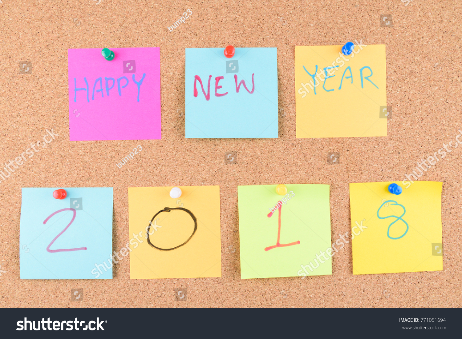 Concept New Year Greetings With Handwriting Stock Photo Royalty
