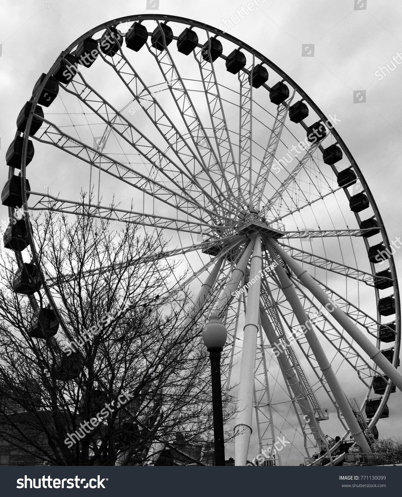 Chicago Navy Pier Old Ferris Wheel Stock Photo Edit Now 771130099