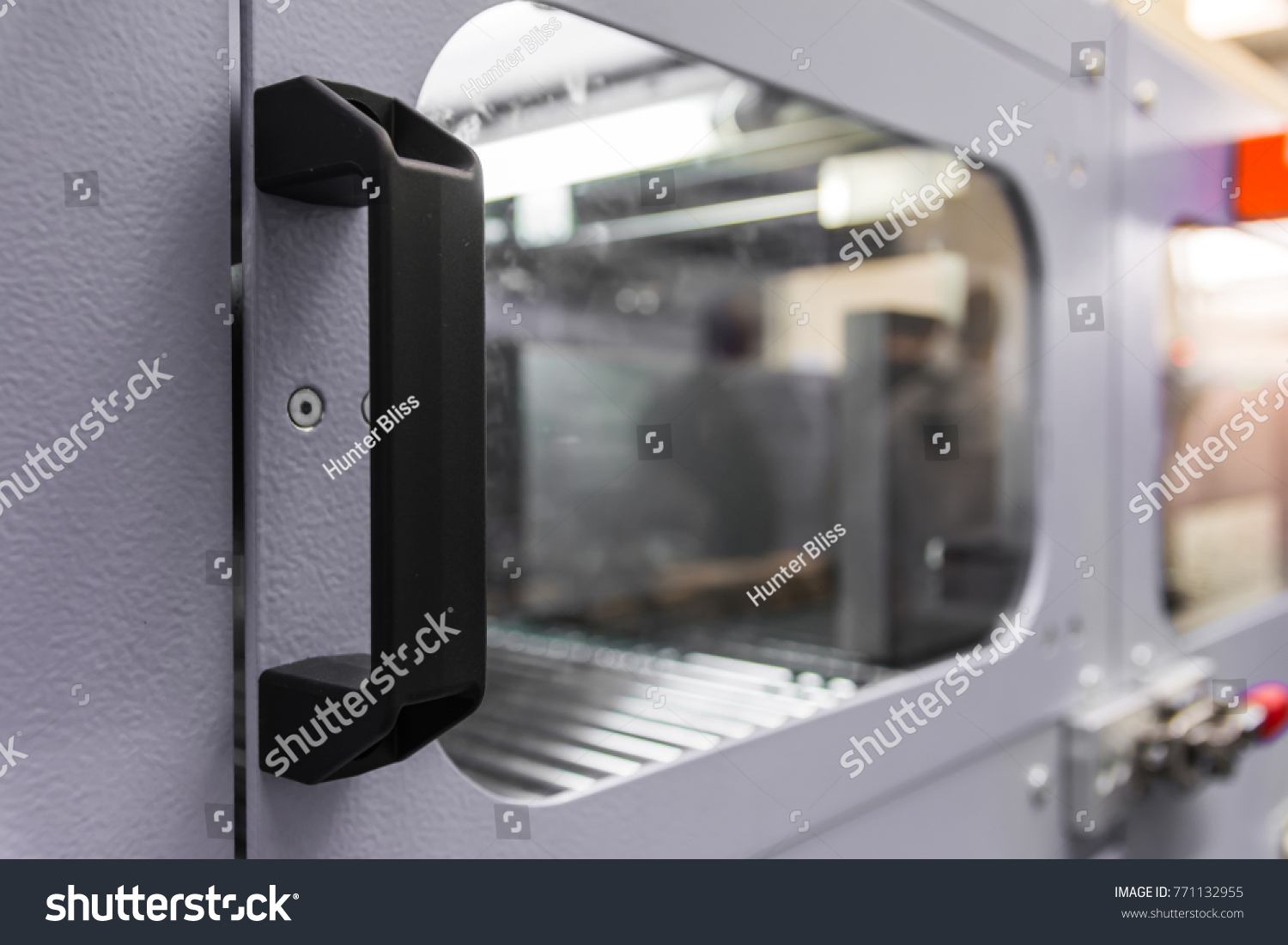 Industrial Cabinet Handle Door Machine Manufacturing Stock Photo ...