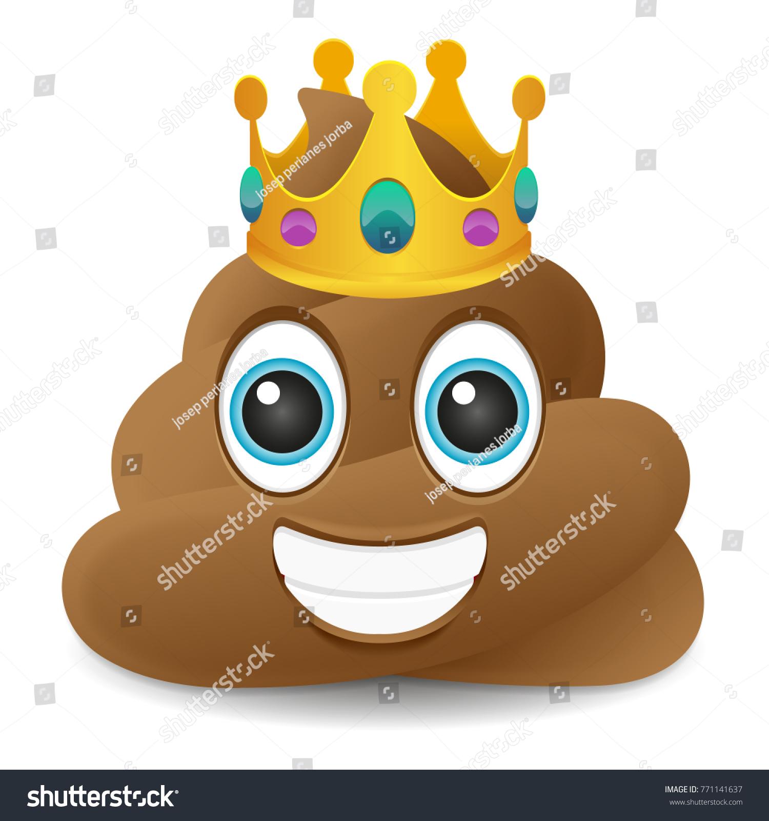 Pile poo king crown emoji icon stock vector 771141637 shutterstock pile of poo king crown emoji icon object symbol gradient vector art design cartoon isolated background biocorpaavc Gallery
