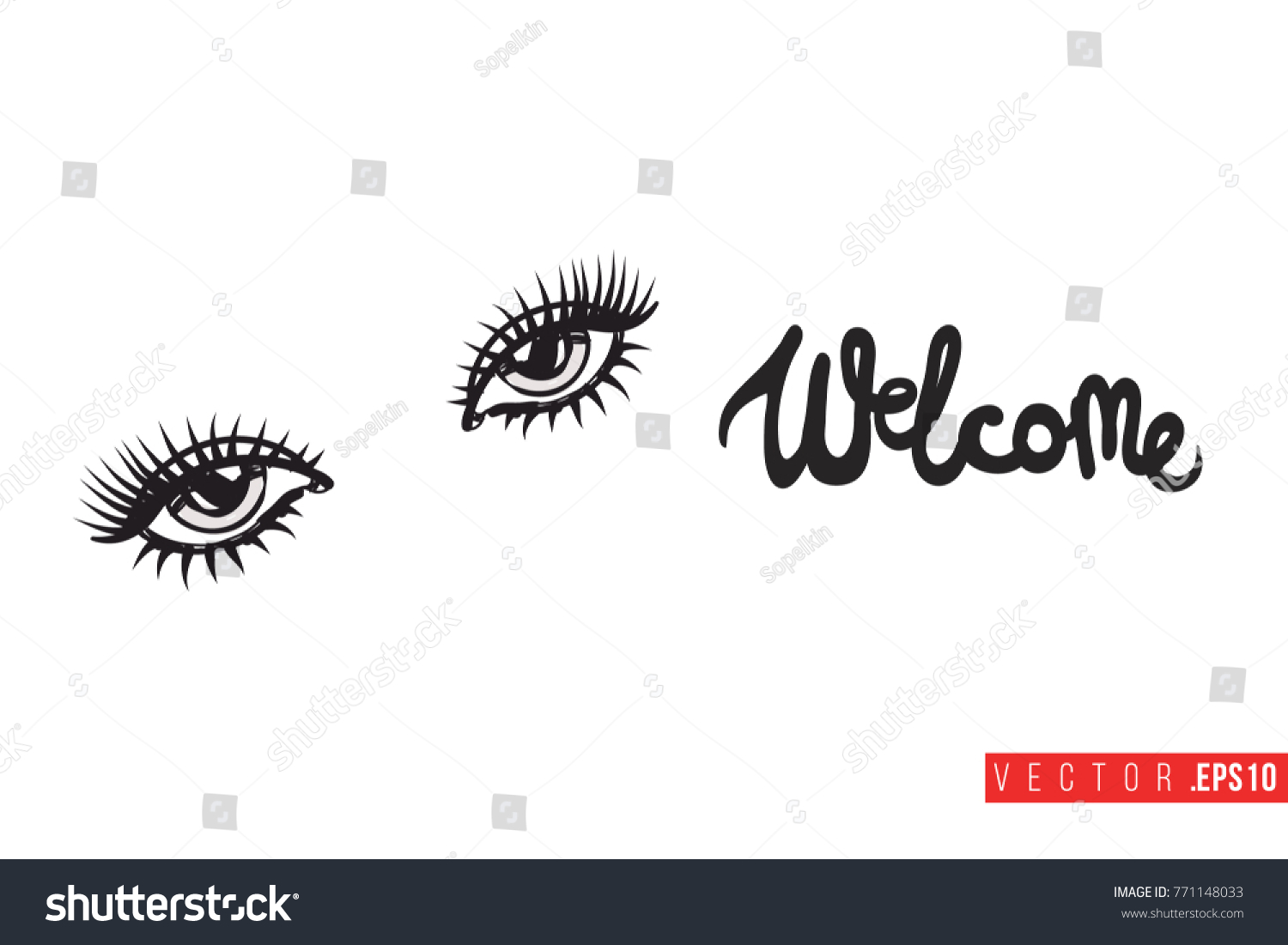 Vector woman eyes motivational text welcome stock vector 771148033 vector woman eyes with motivational text welcome fashion accessory illustration in glamour style for buycottarizona Gallery