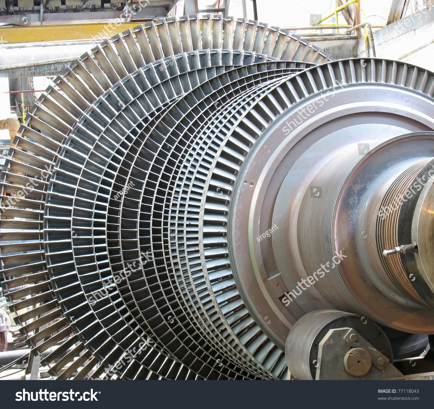 Power Generator Steam Turbine During Repair Stock