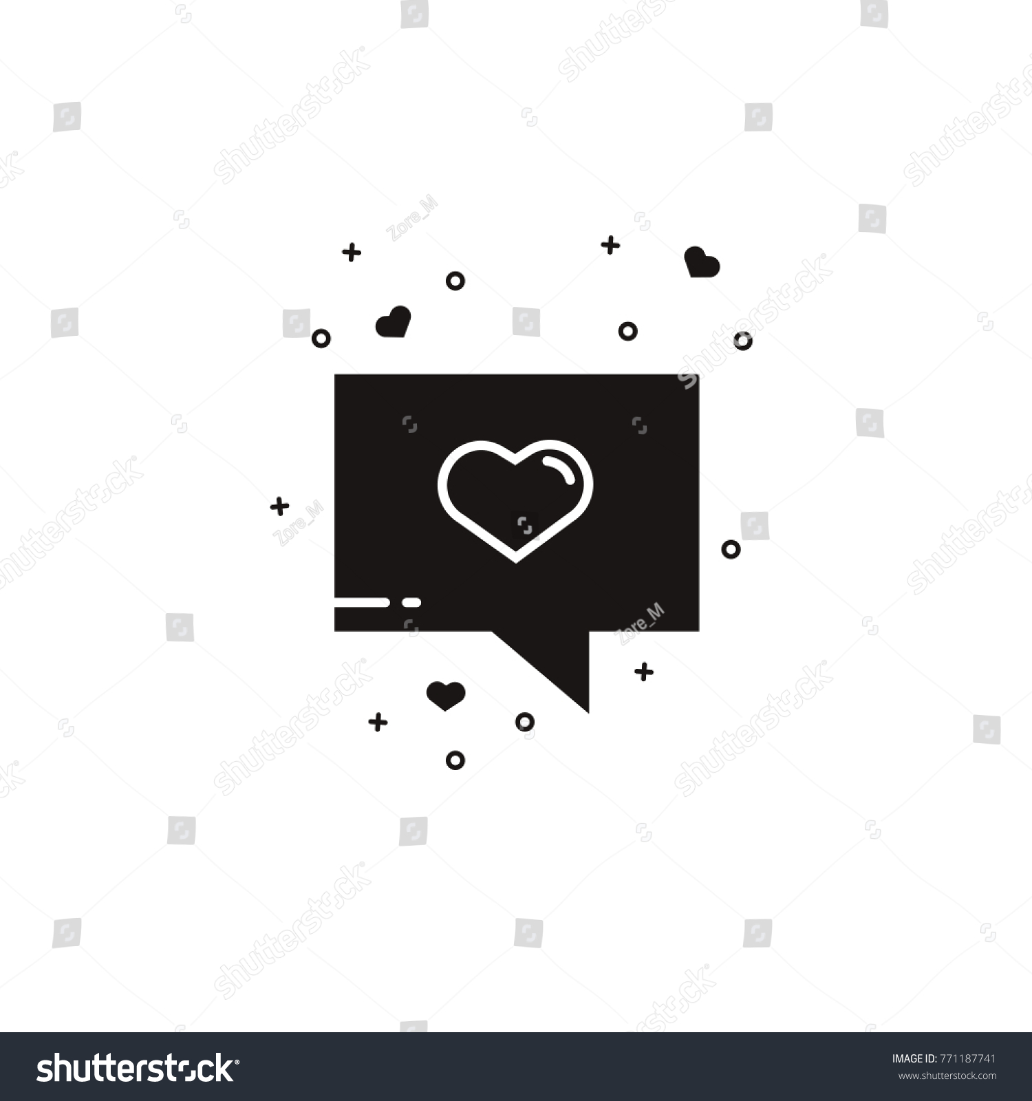 Speech rectangle bubble heart black silhouette stock vector speech rectangle bubble with heart black silhouette comic balloon sign for messaging texting buycottarizona