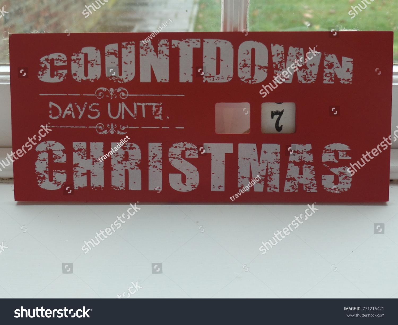 Countdown To Christmas Sign.Countdown Christmas Sign Stock Photo Edit Now 771216421