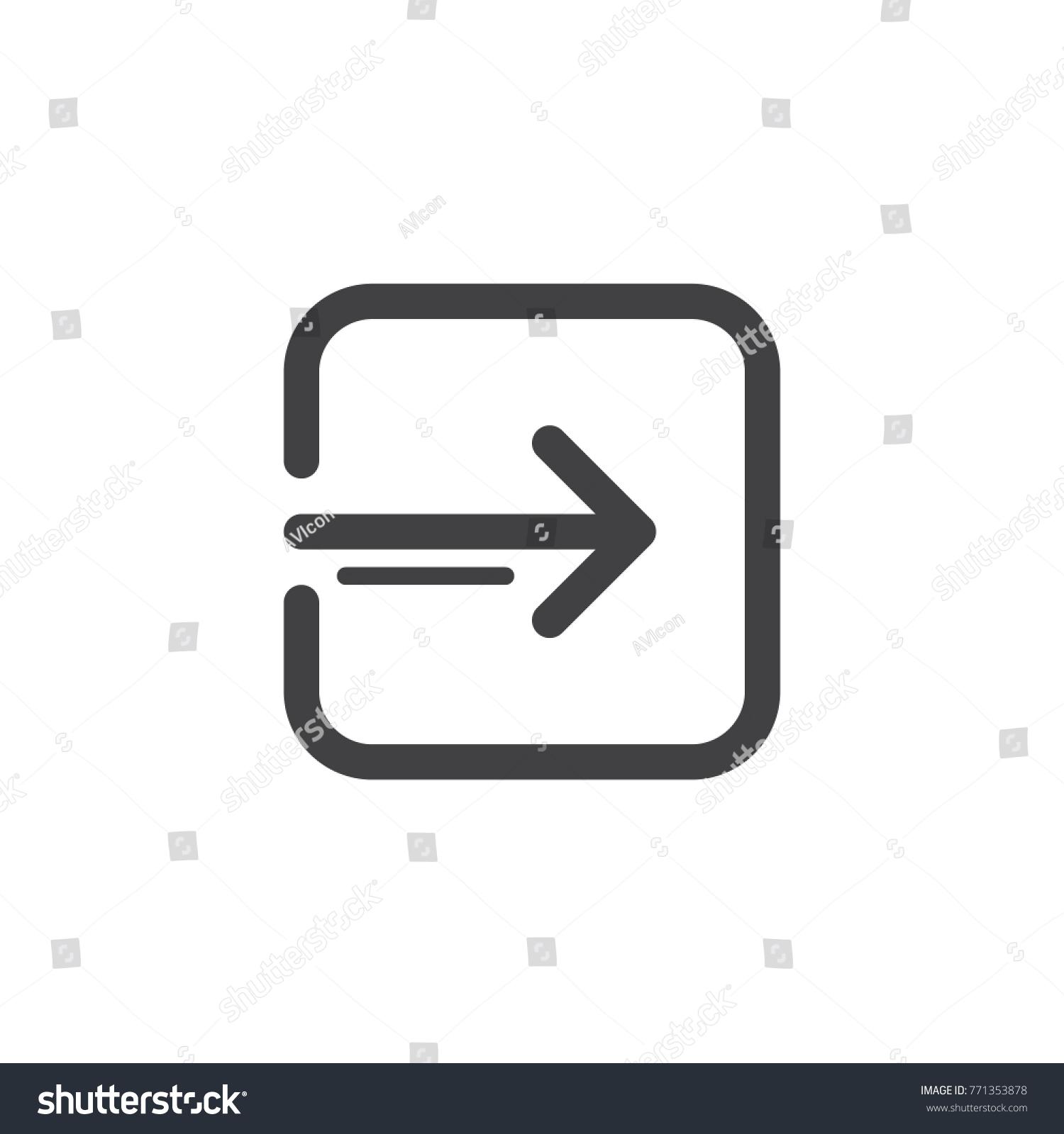 account log line icon outline vector stock vector 771353878 rh shutterstock com