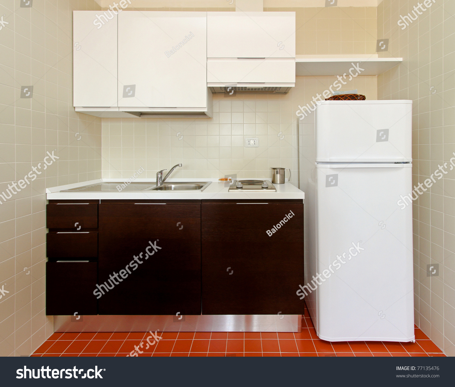 Kitchenette All Appliances Small Apartment Stock Photo 77135476 ...