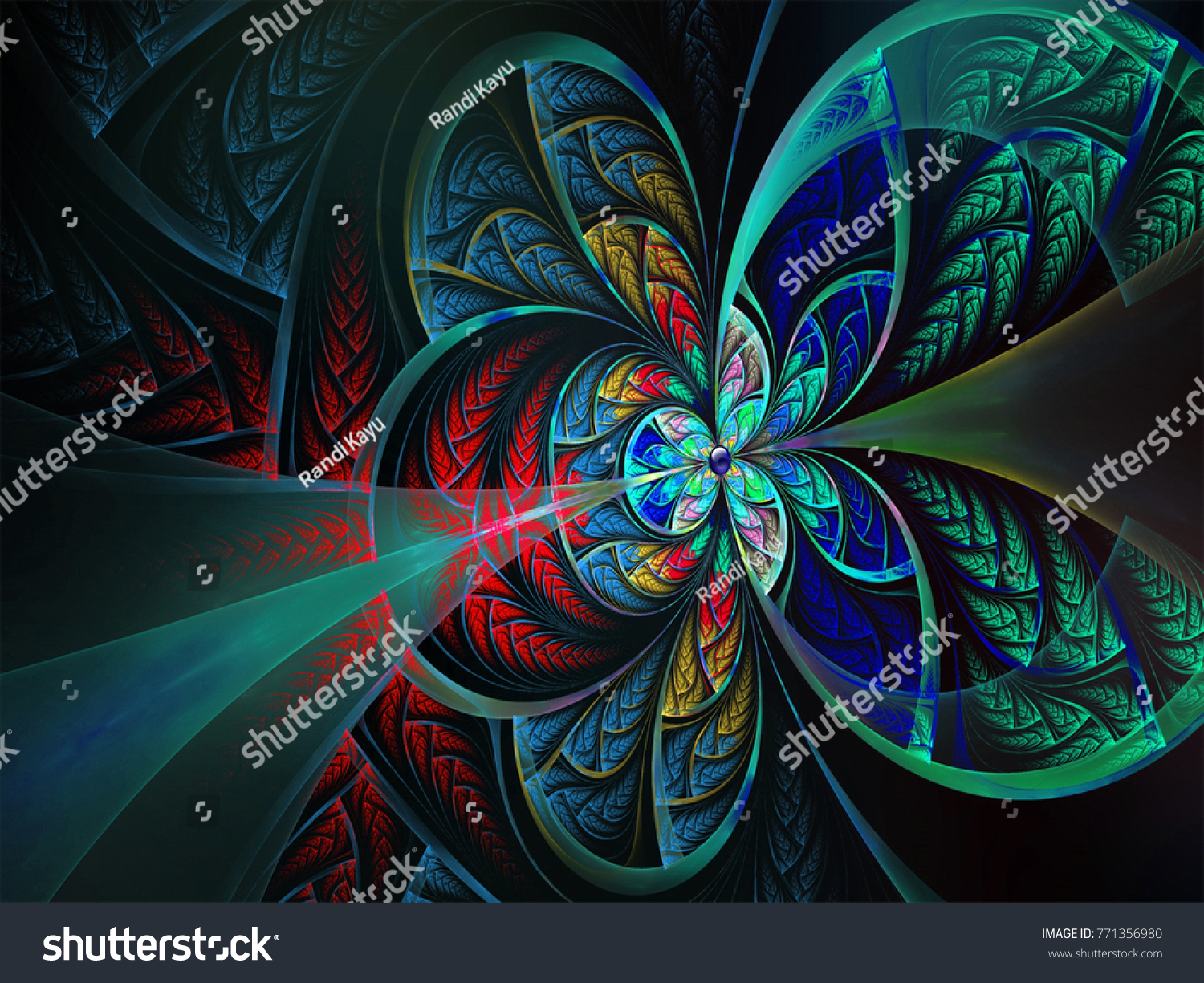 Colorful Butterfly Wallpaper Stock Illustration 771356980