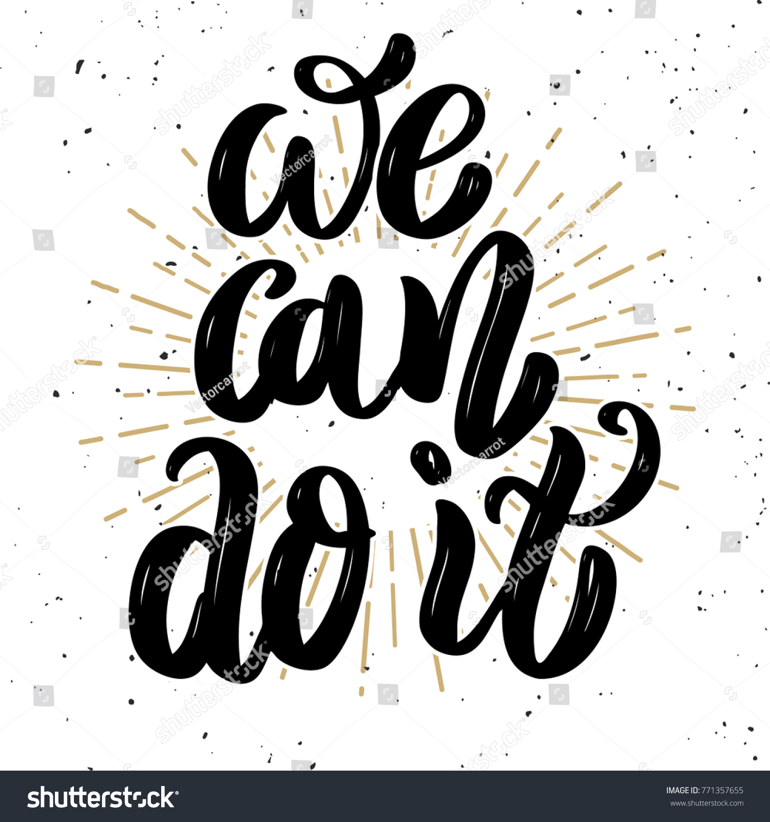 We Can Do It Hand Drawn Stock Illustration Royalty Free Stock