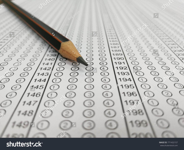 Blank Standard Test Form School Answer Stock Photo Edit Now