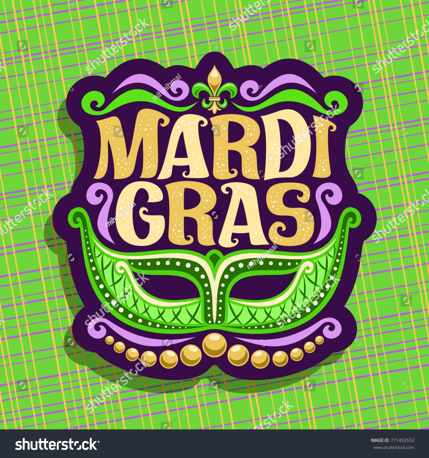 Vector Logo Mardi Gras Carnival Poster Stock Vector Royalty Free