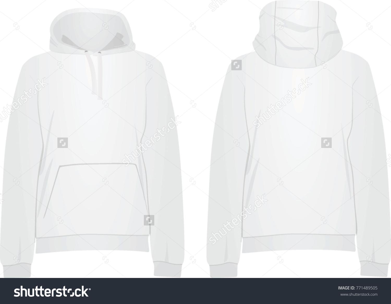 White Hooded Sweater Vector Illustration Stock Vector 771489505 ...