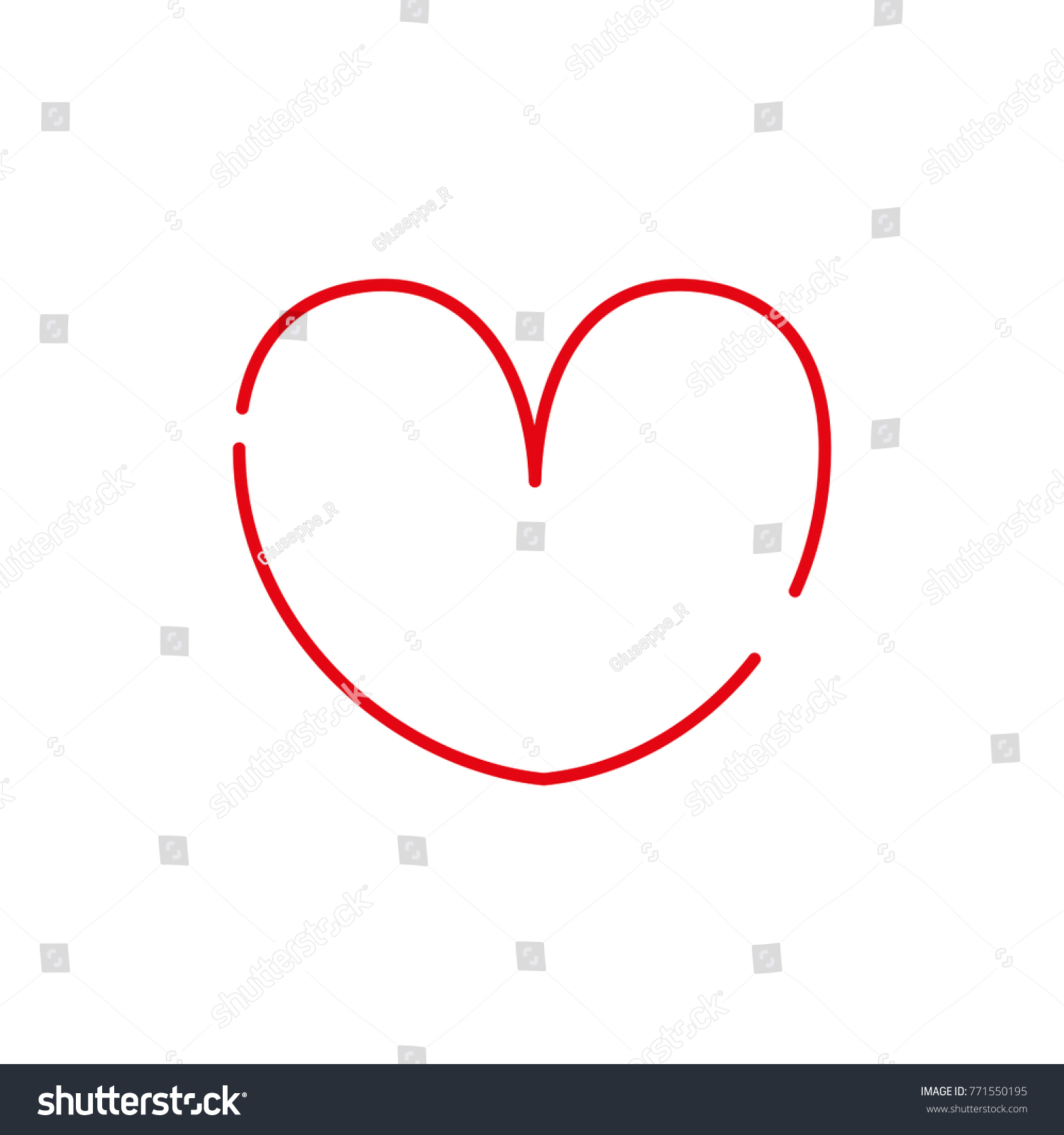 Color line heart symbol passion love stock vector 771550195 color line heart symbol of passion and love biocorpaavc Images