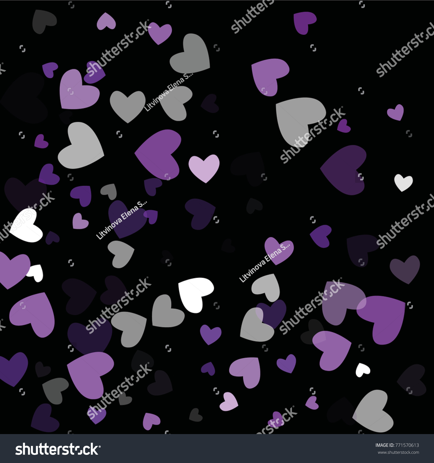 Beautiful confetti hearts falling on background stock vector beautiful confetti hearts falling on background invitation template background design greeting card poster kristyandbryce Images