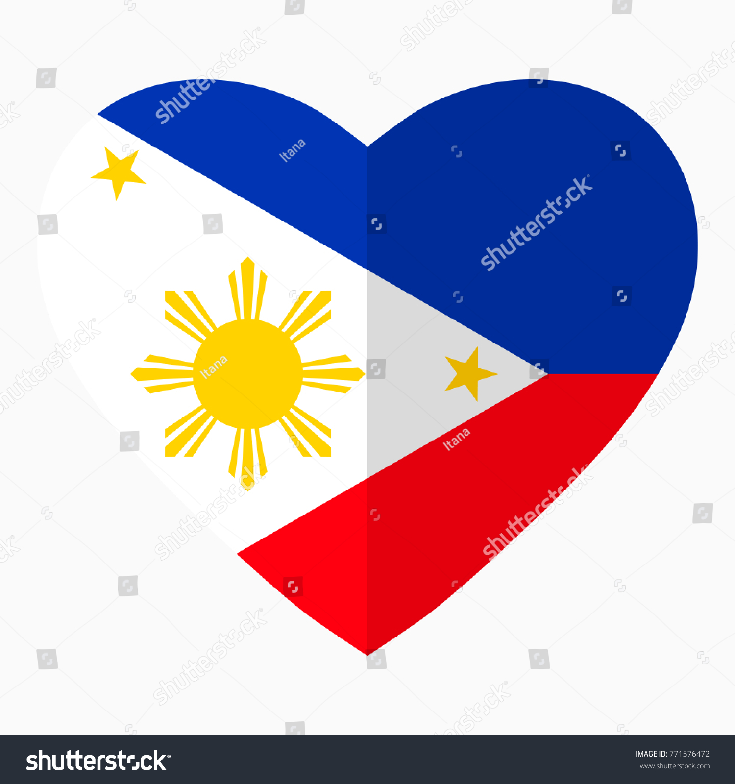 Flag philippines shape heart flat style stock illustration flag of philippines in the shape of heart flat style symbol of love for biocorpaavc Choice Image