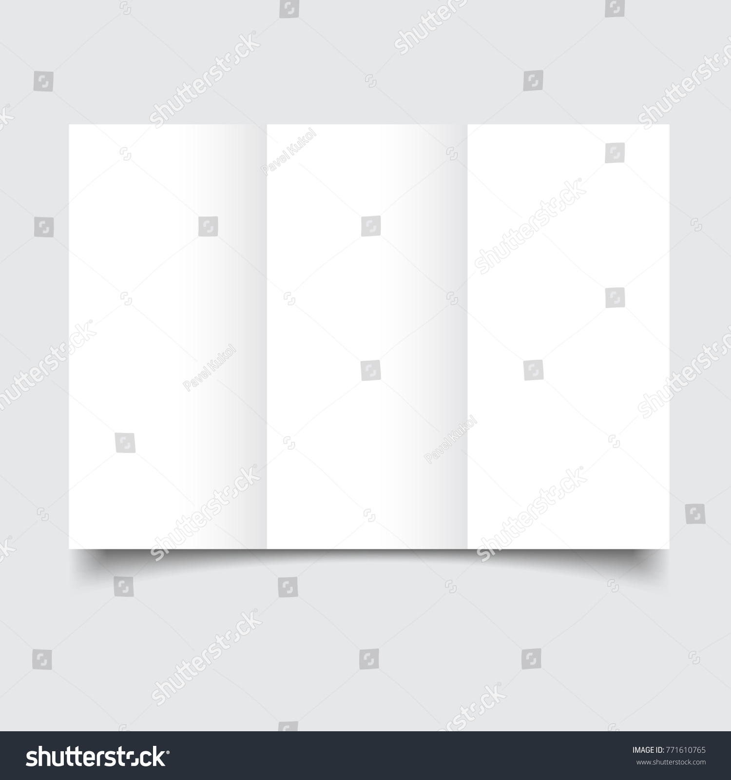 Blank Brochure Template Paper Bends Soft Stock Vector - Blank brochure template