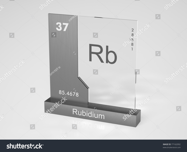 Rubidium symbol rb chemical element periodic stock illustration rubidium symbol rb chemical element of the periodic table buycottarizona Choice Image