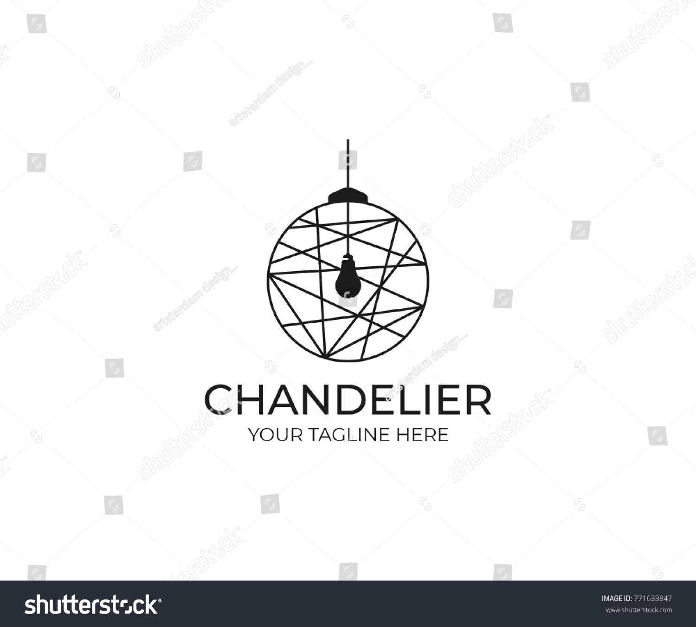 Chandelier logo template luminaire vector design stock vector chandelier logo template luminaire vector design lustre illustration arubaitofo Image collections