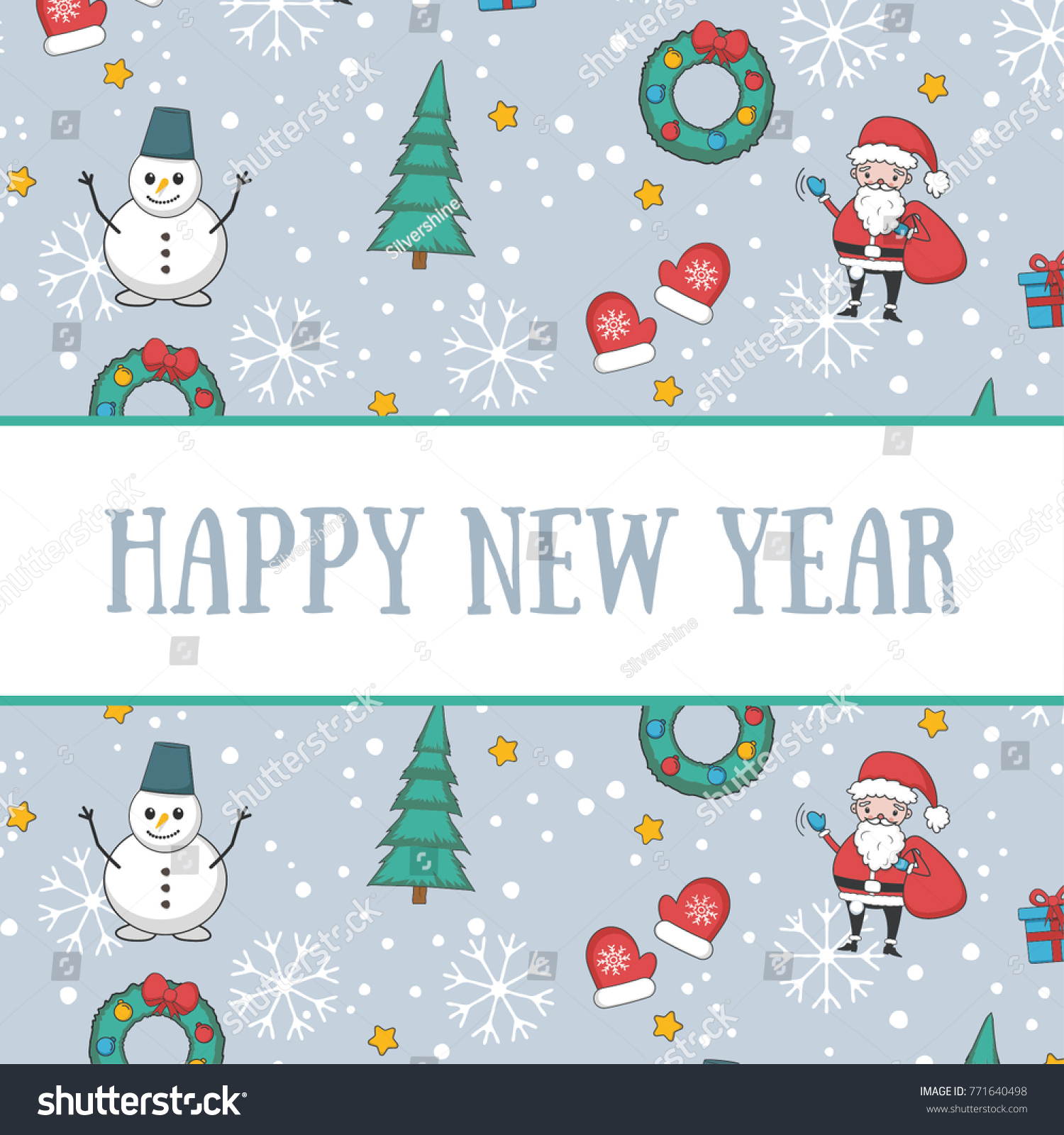 Merry Christmas and Happy New Year postcard | EZ Canvas