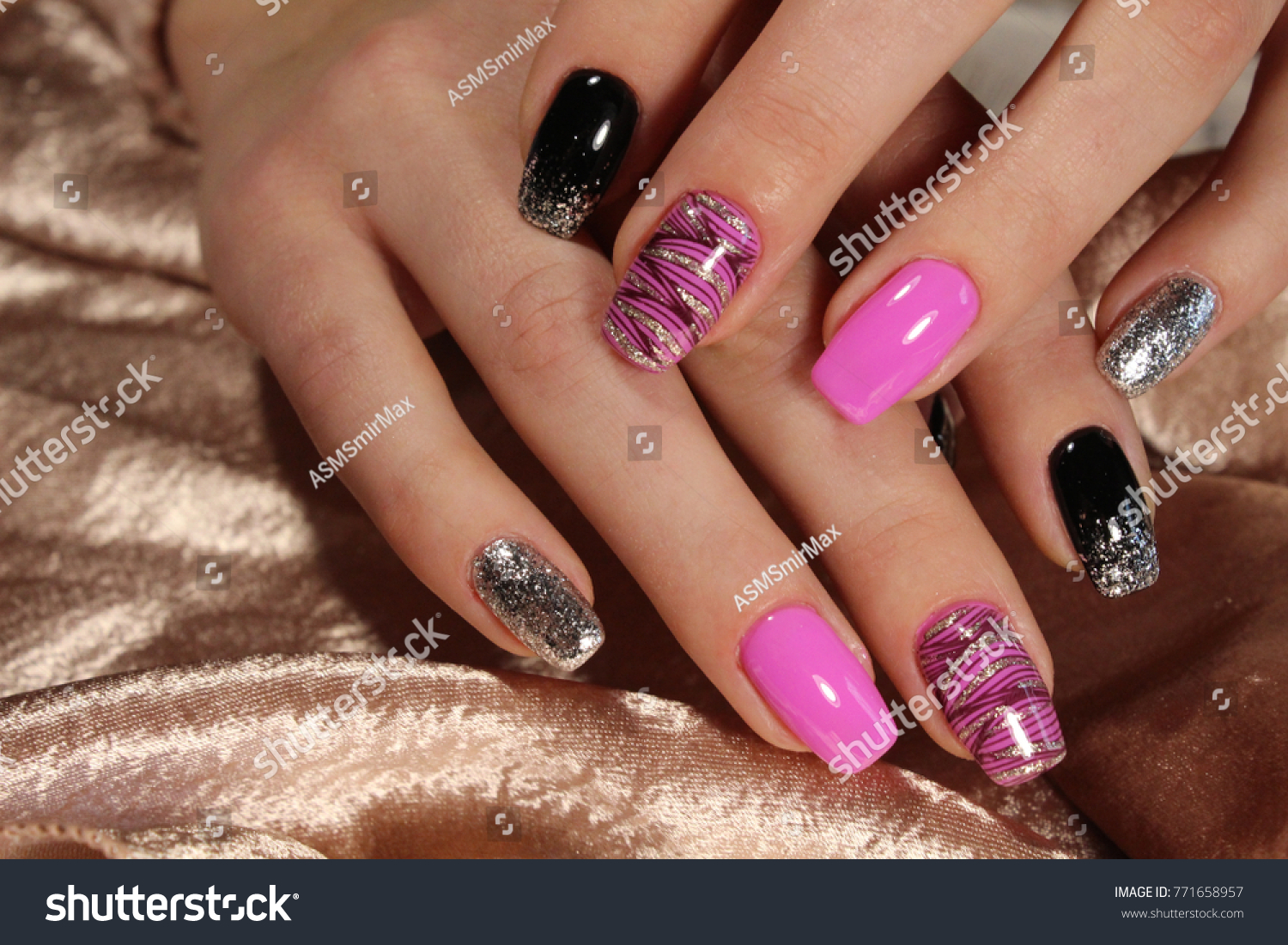 Fashion Nails Design Manicure Best 2017 Stock Photo (Royalty Free ...
