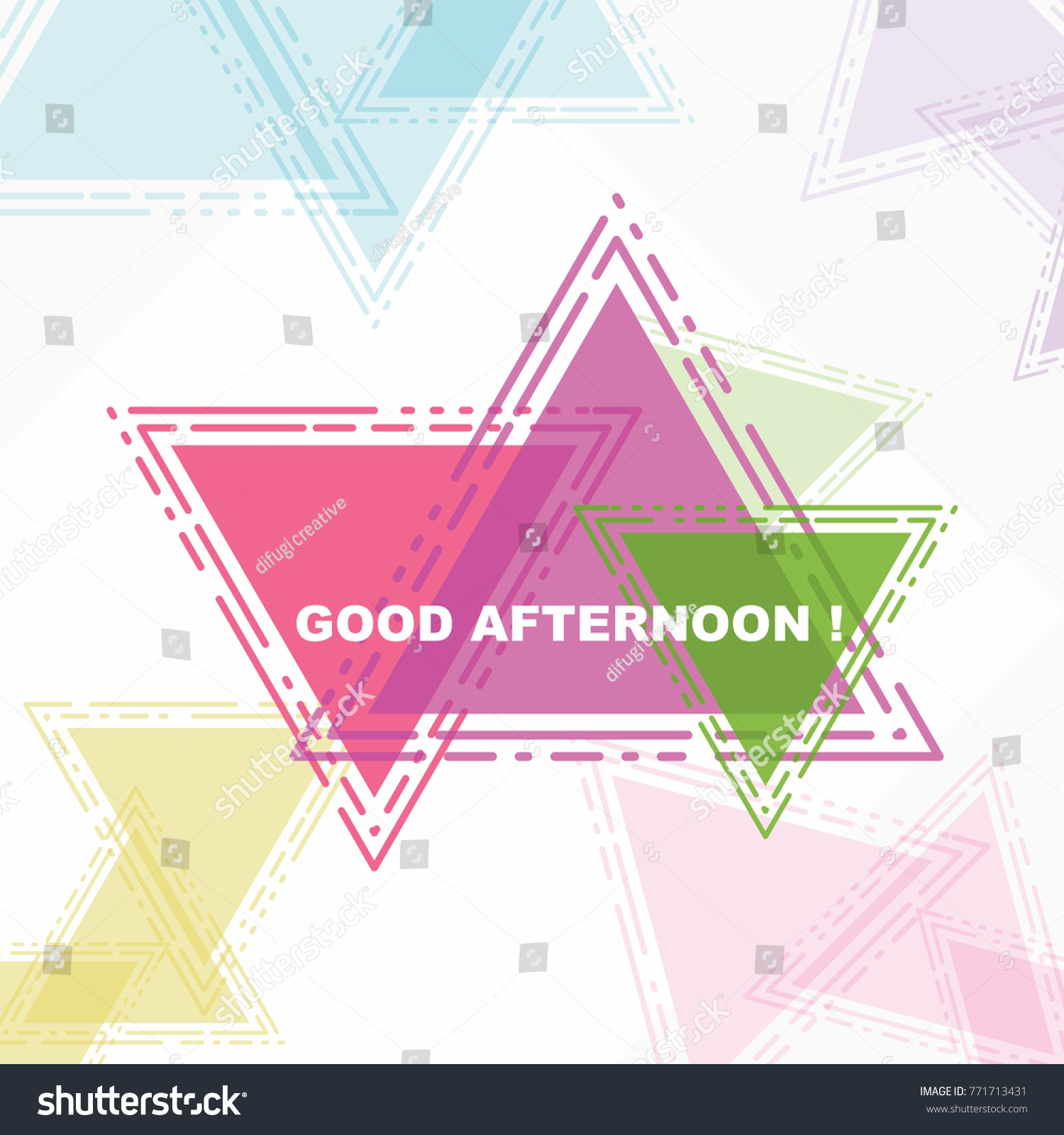 Good Afternoon Beautiful Greeting Card Poster Stock Vector 771713431