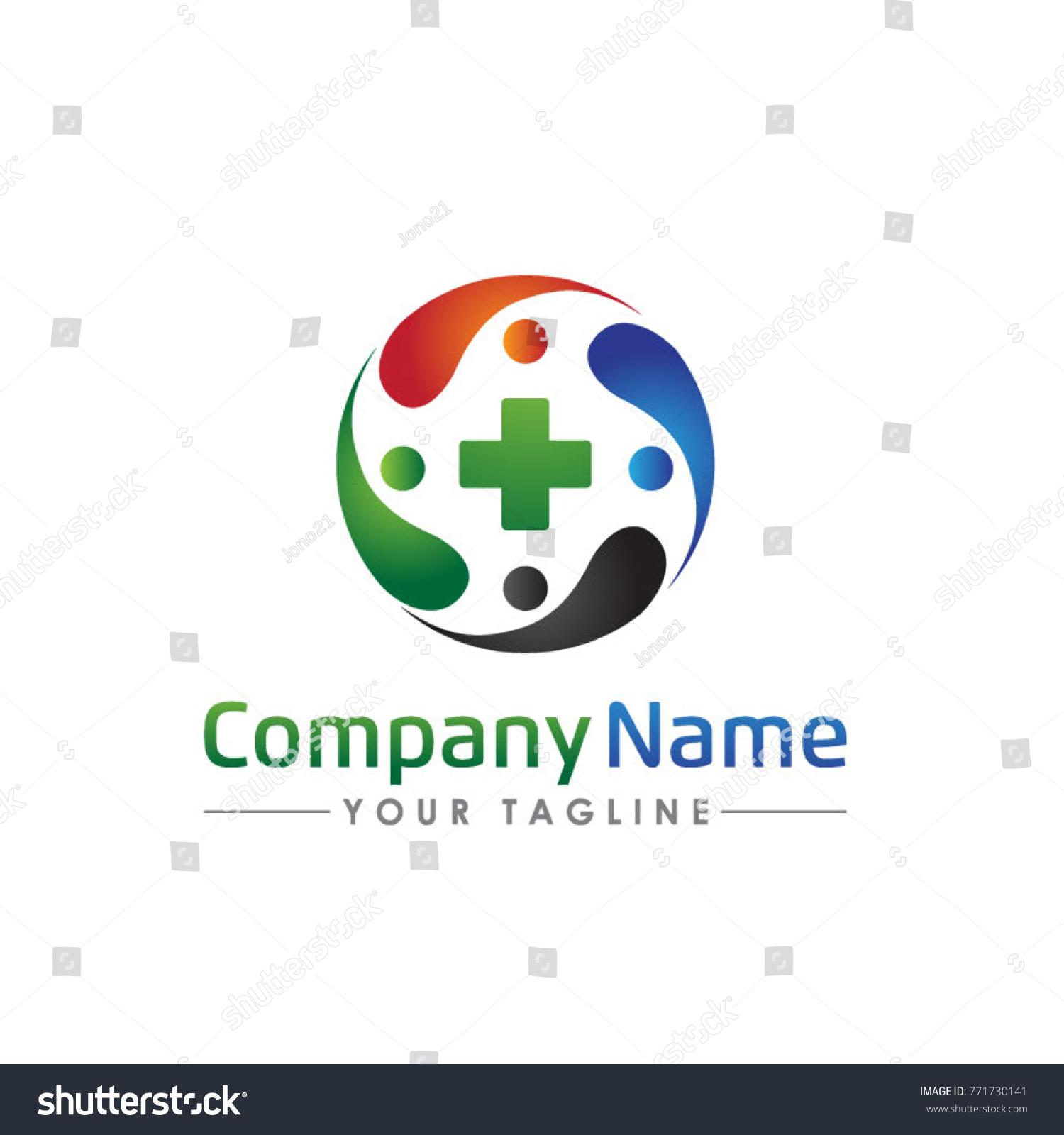Healthy people medical clinic logo template stock vector 771730141 healthy people medical clinic logo template biocorpaavc