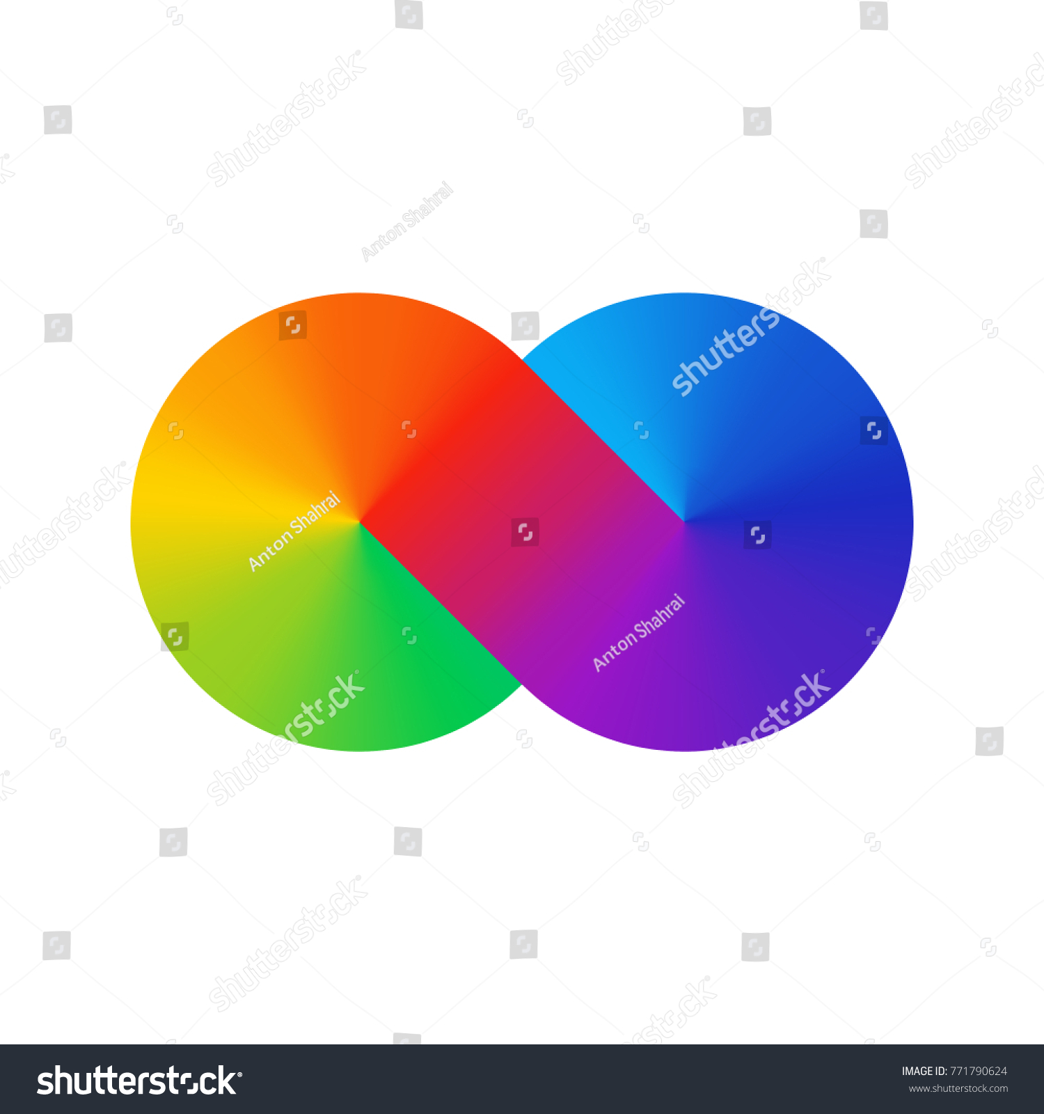 Thick line infinity sign color spectrum stock vector 771790624 thick line infinity sign color spectrum rainbow gradient in the shape of the infinity symbol buycottarizona Choice Image