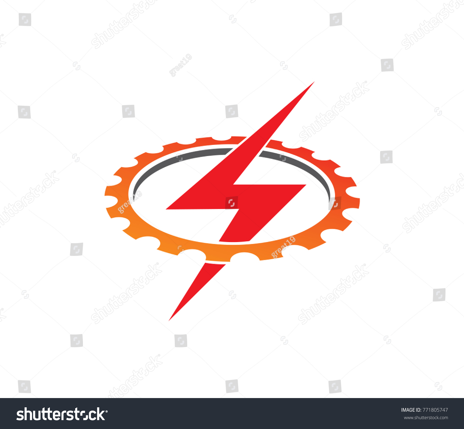 Lightning thunderbolt electricity gear vector logo stock vector lightning thunderbolt electricity gear vector logo design buycottarizona Image collections